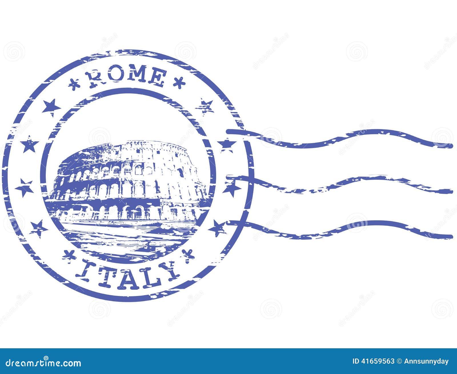 Затрапезный штемпель с Colosseum