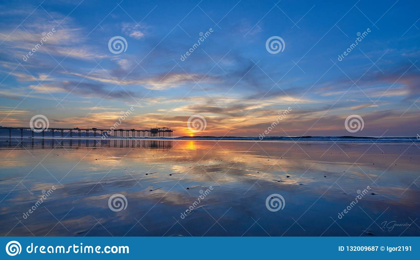 Заход солнца в alifornia ¡ Ð, Сан-Диего