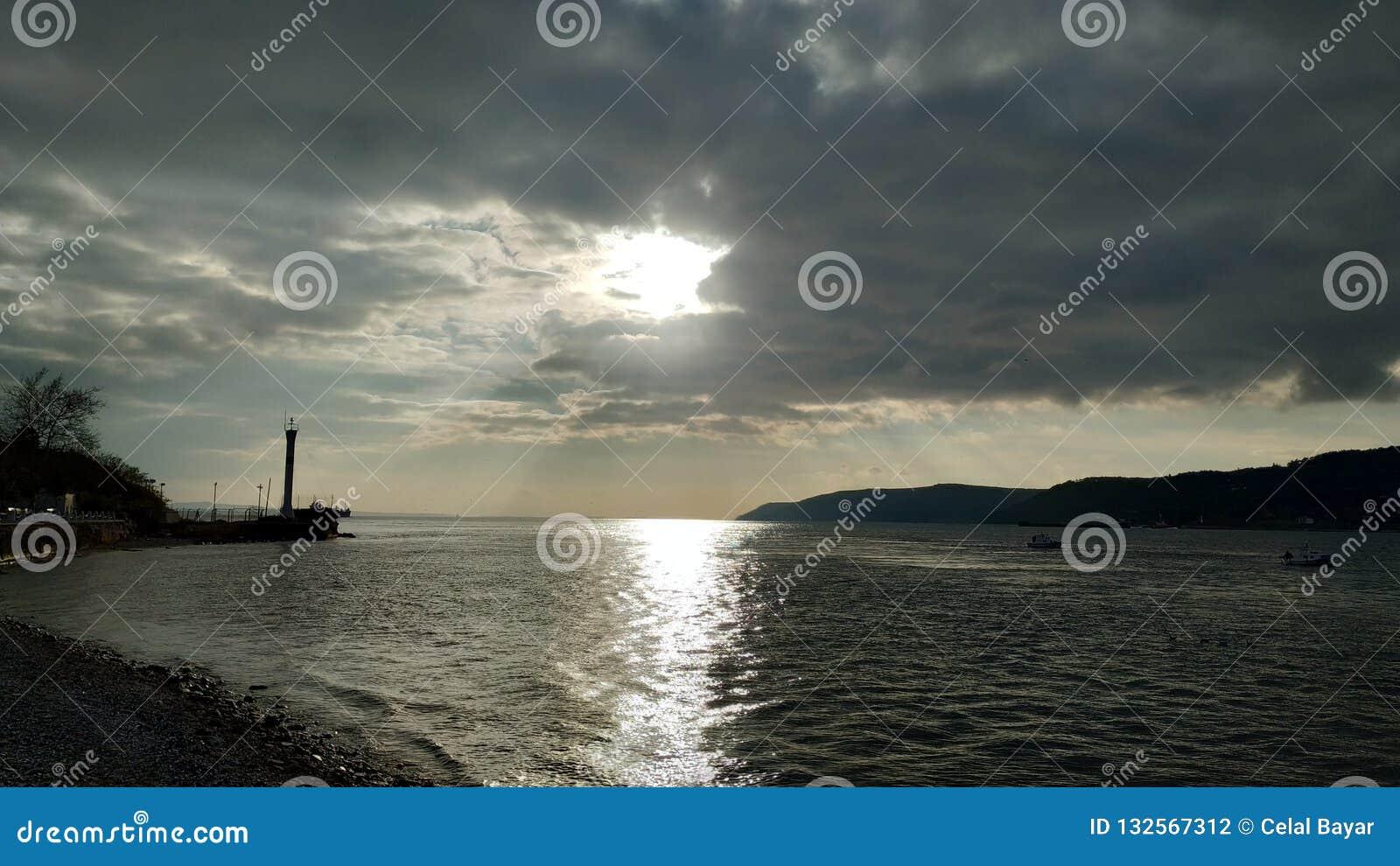 Заход солнца над Дарданеллами