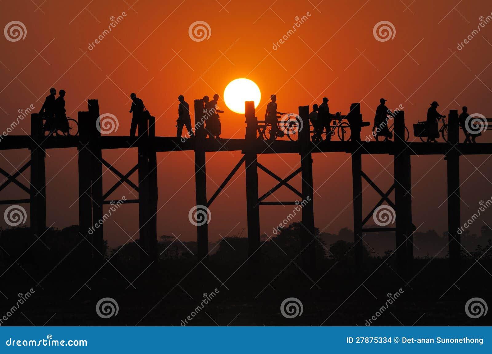 Заход солнца на мосте Mandalay