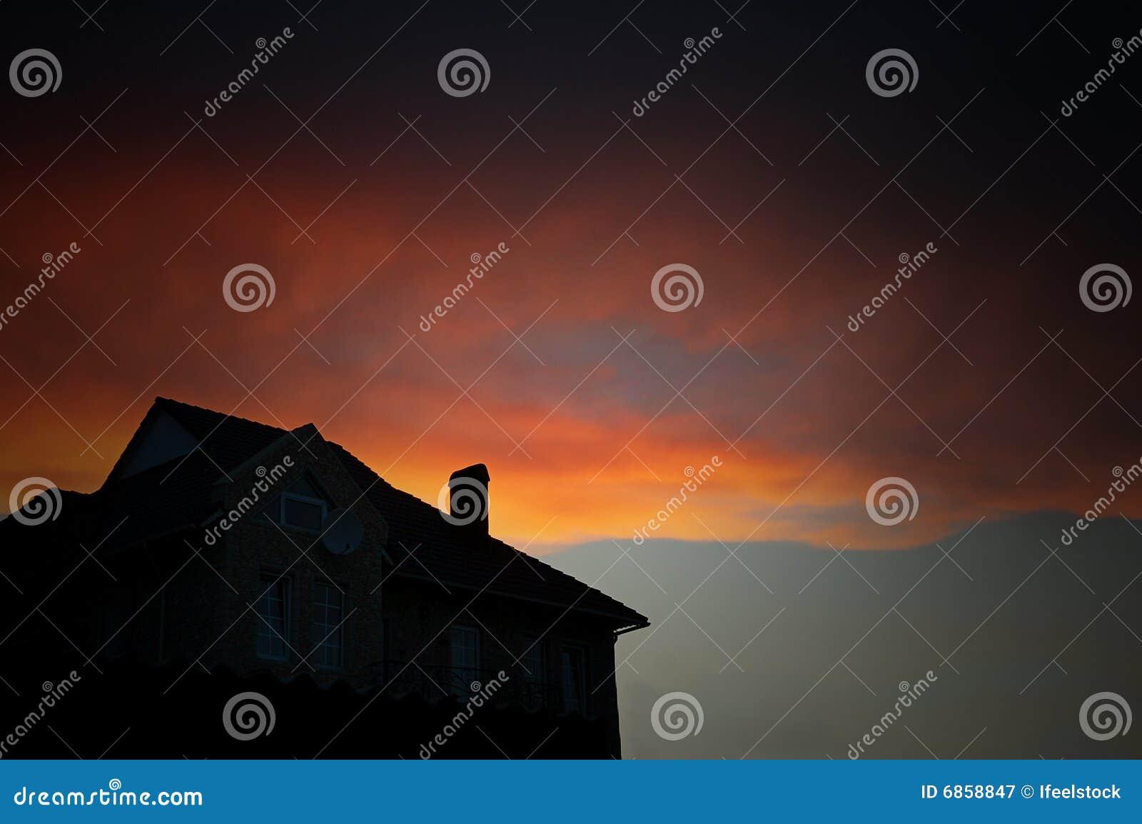 заход солнца неба облака цветастый драматический