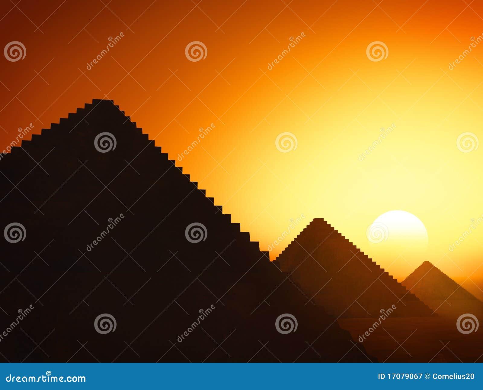заход солнца пирамидок