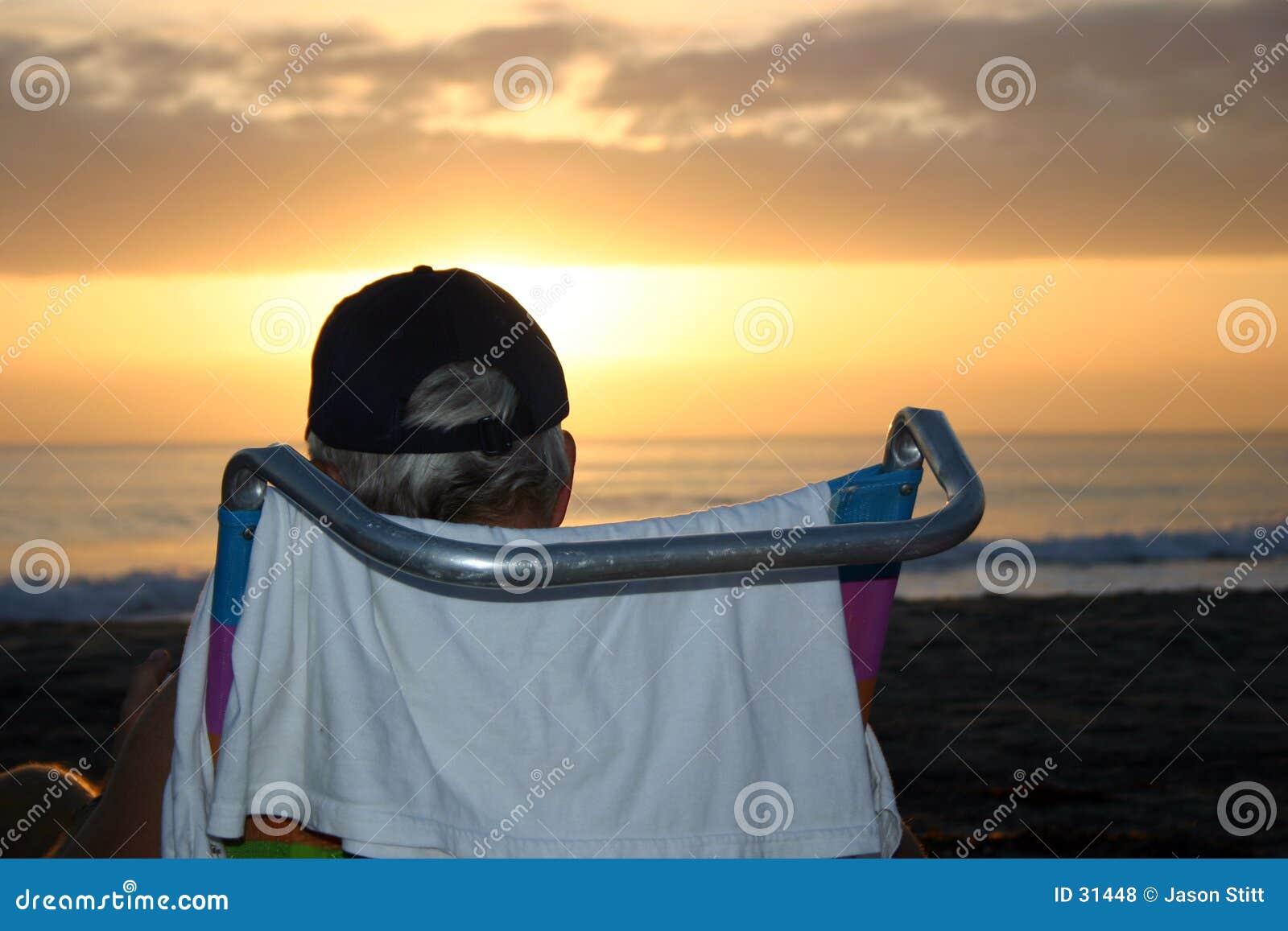 заход солнца пляжа