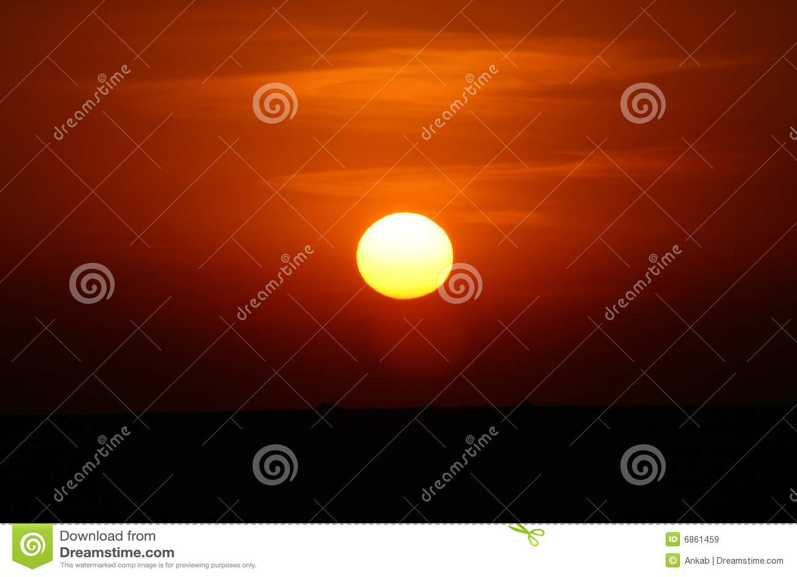 заход солнца сафари Африки