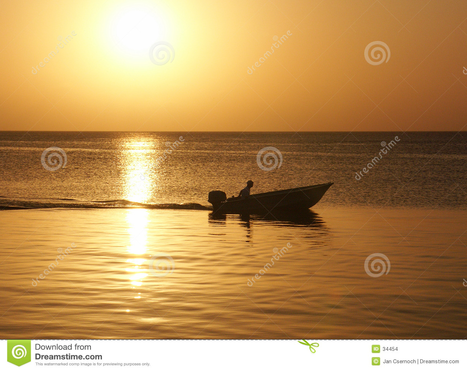 заход солнца человека шлюпки