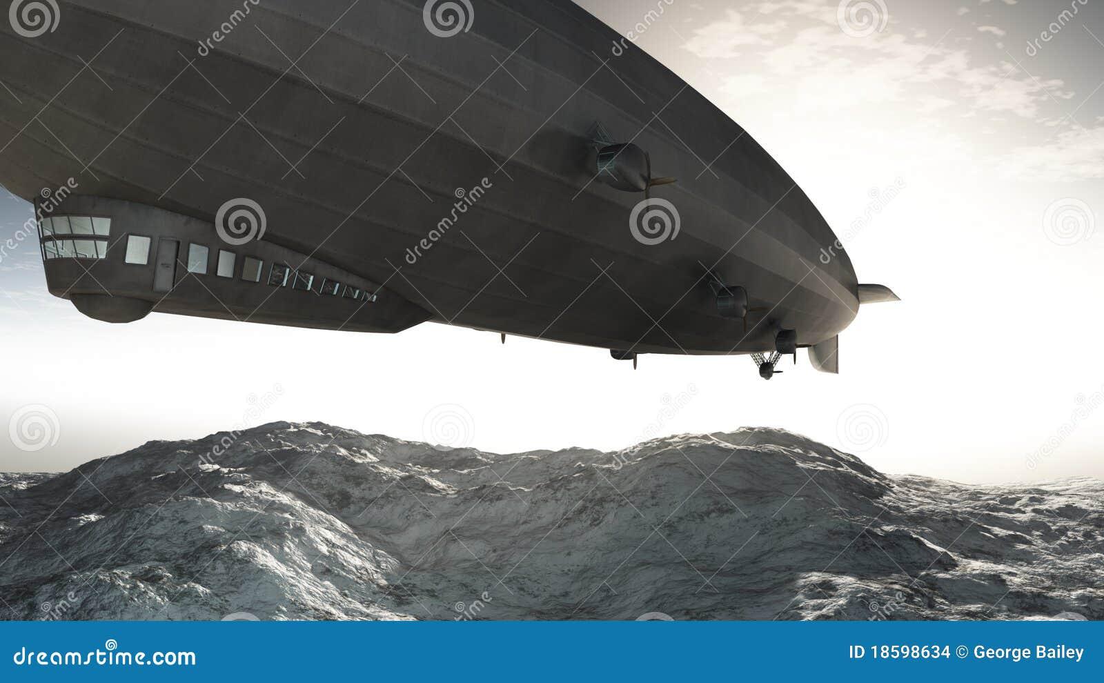 заход солнца airship