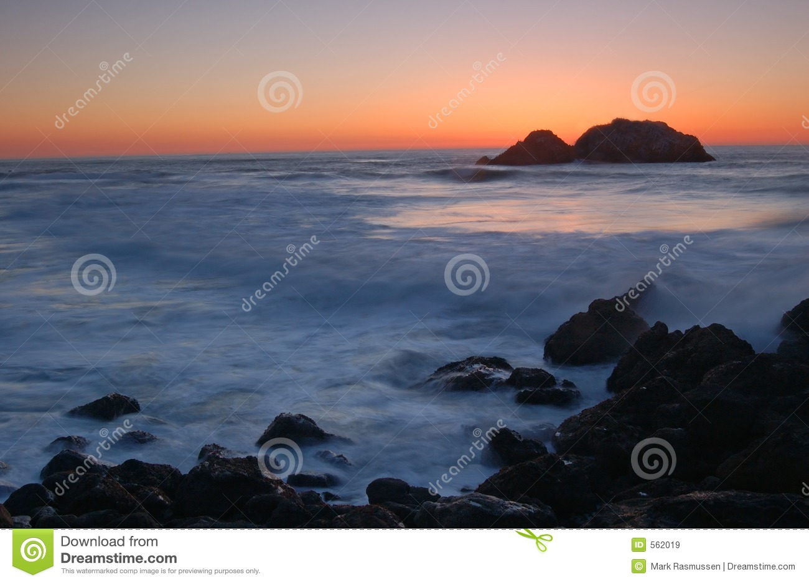 заход солнца california северный