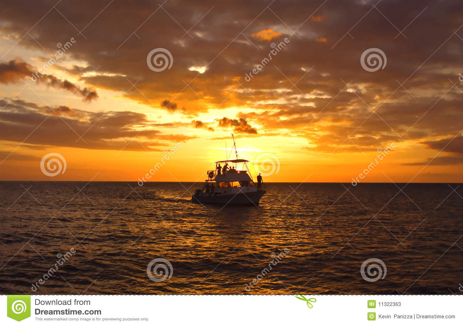 заход солнца hawaiian пикирования шлюпки