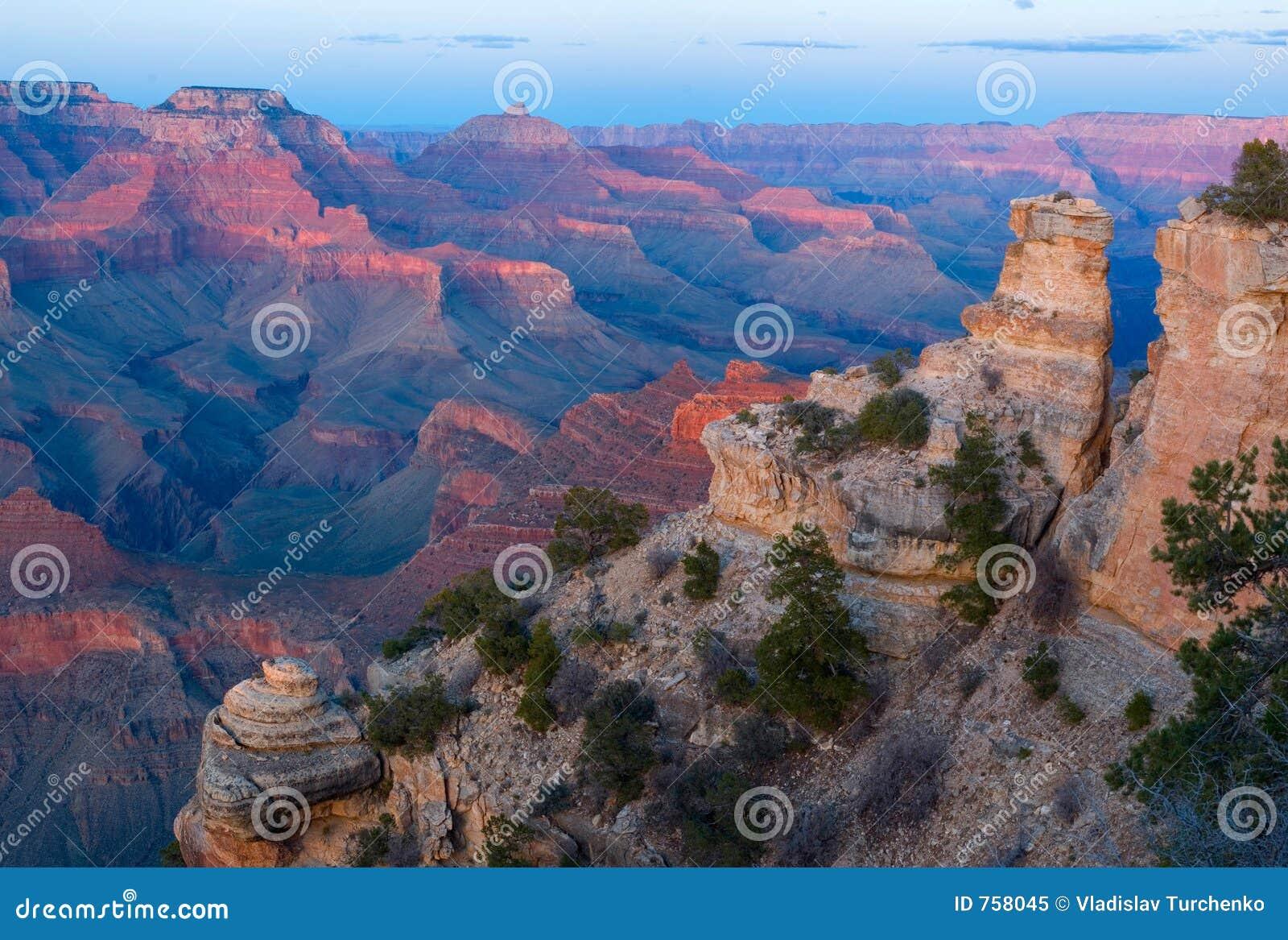 заход солнца np каньона грандиозный