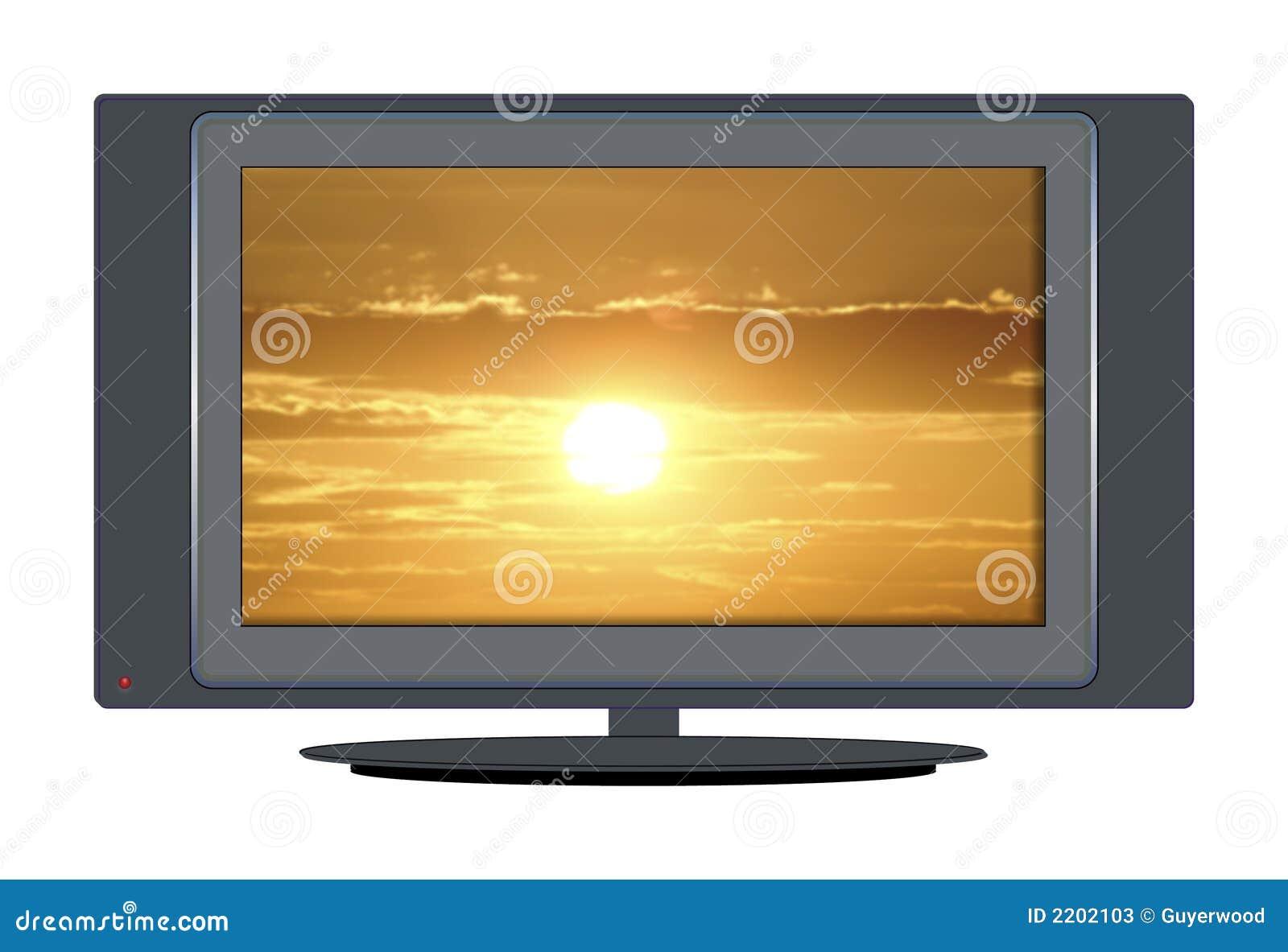 заход солнца tv