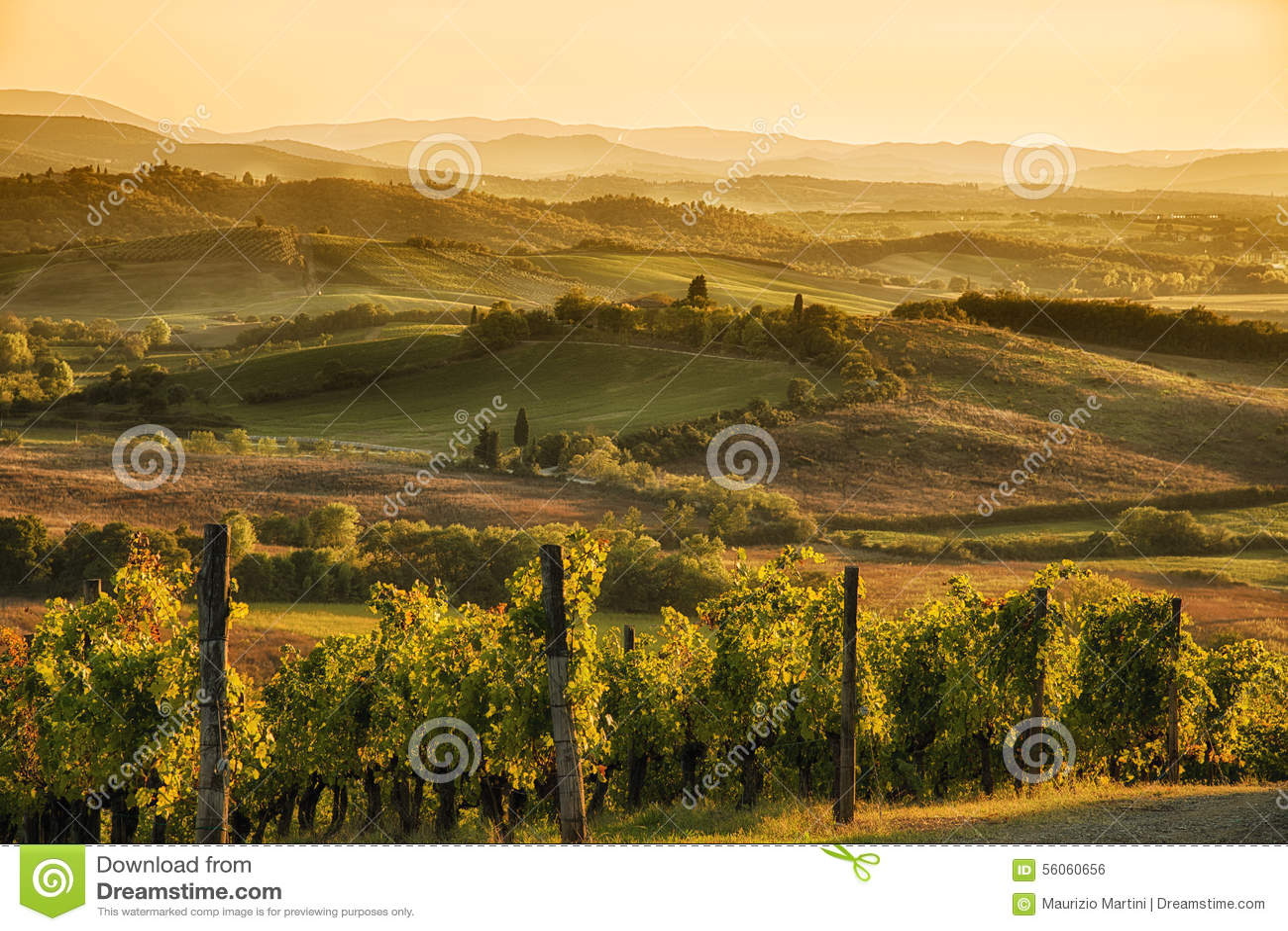 Заход солнца в Chianti