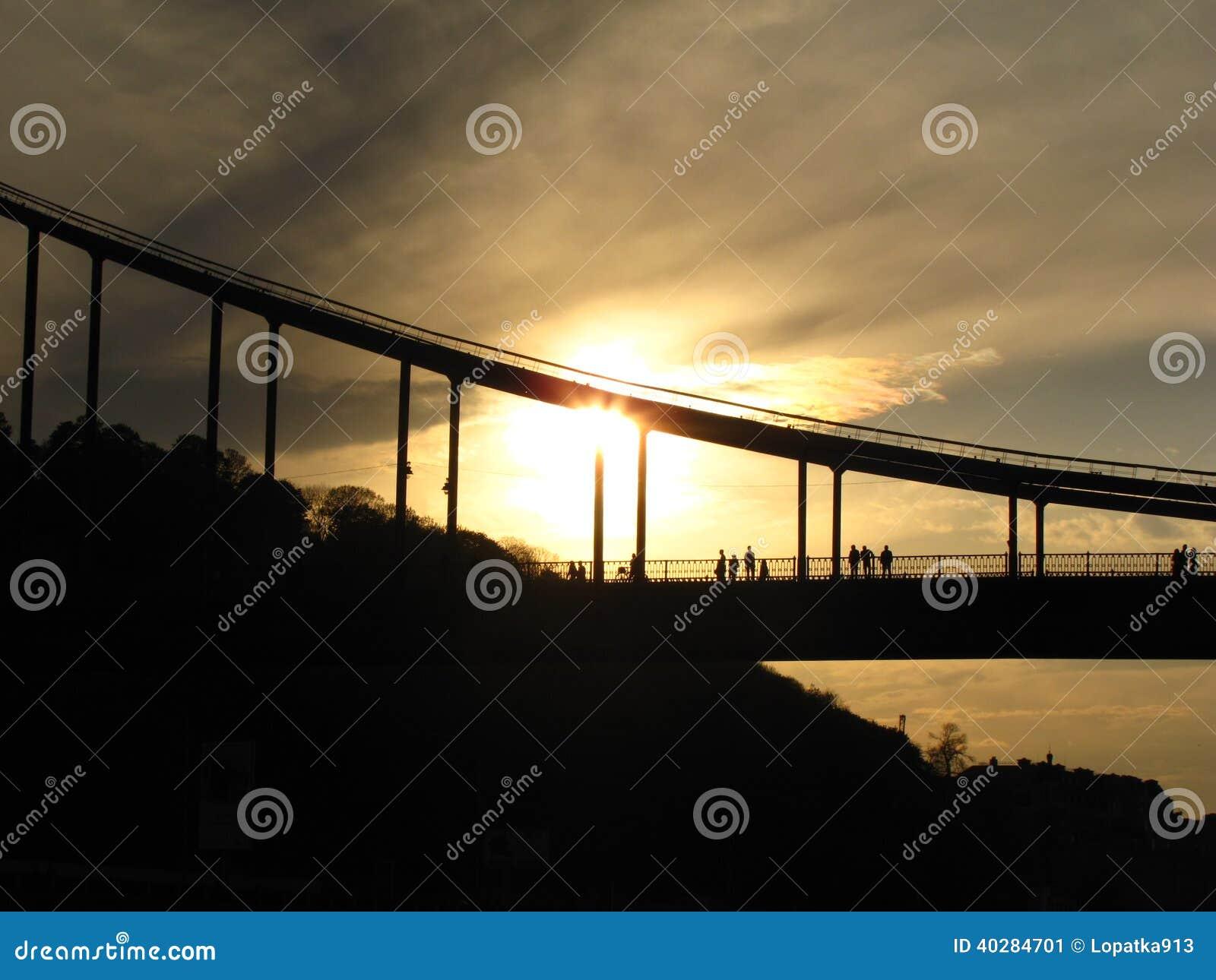 Заход солнца на мосте