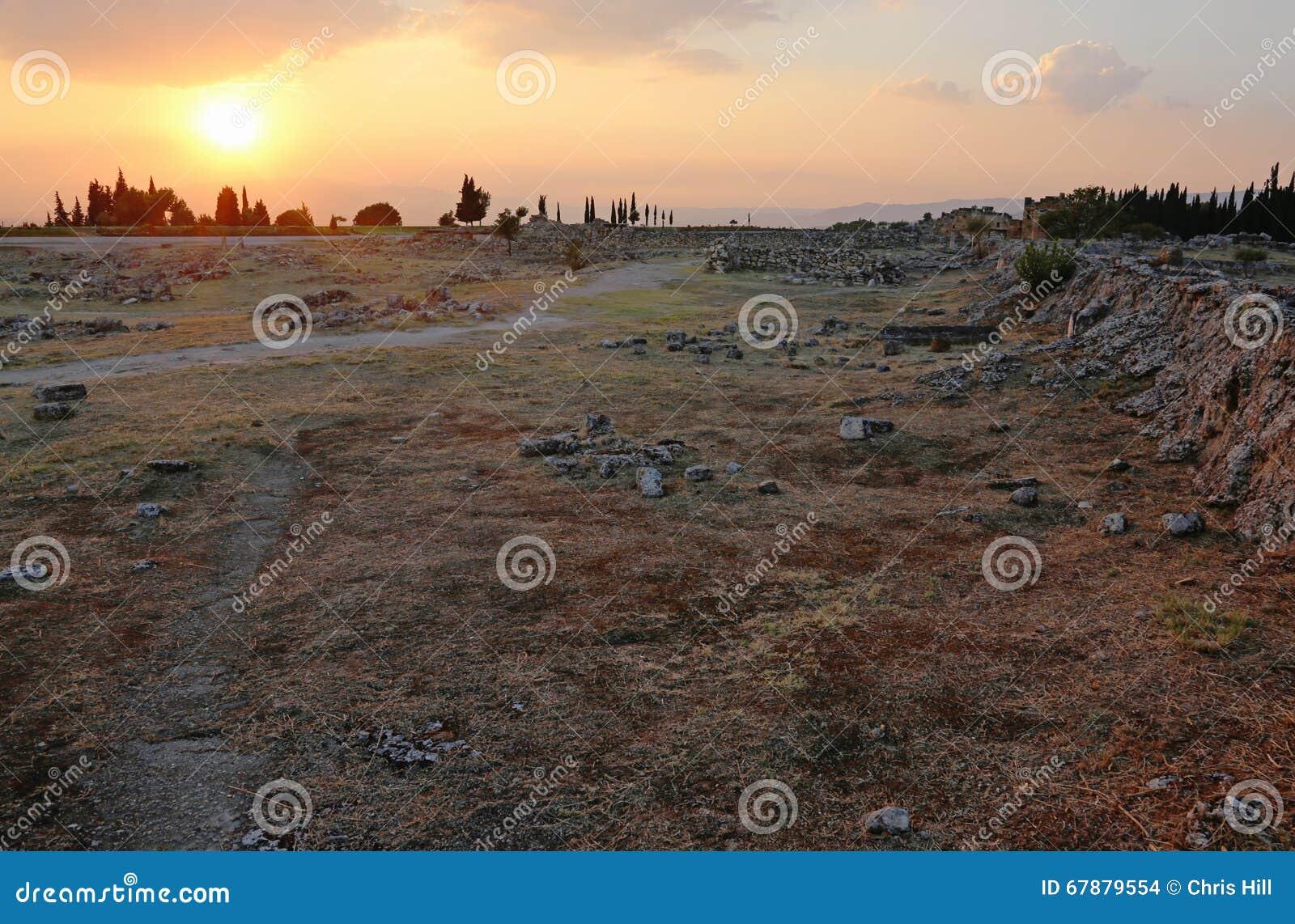 Заход солнца Hierapolis