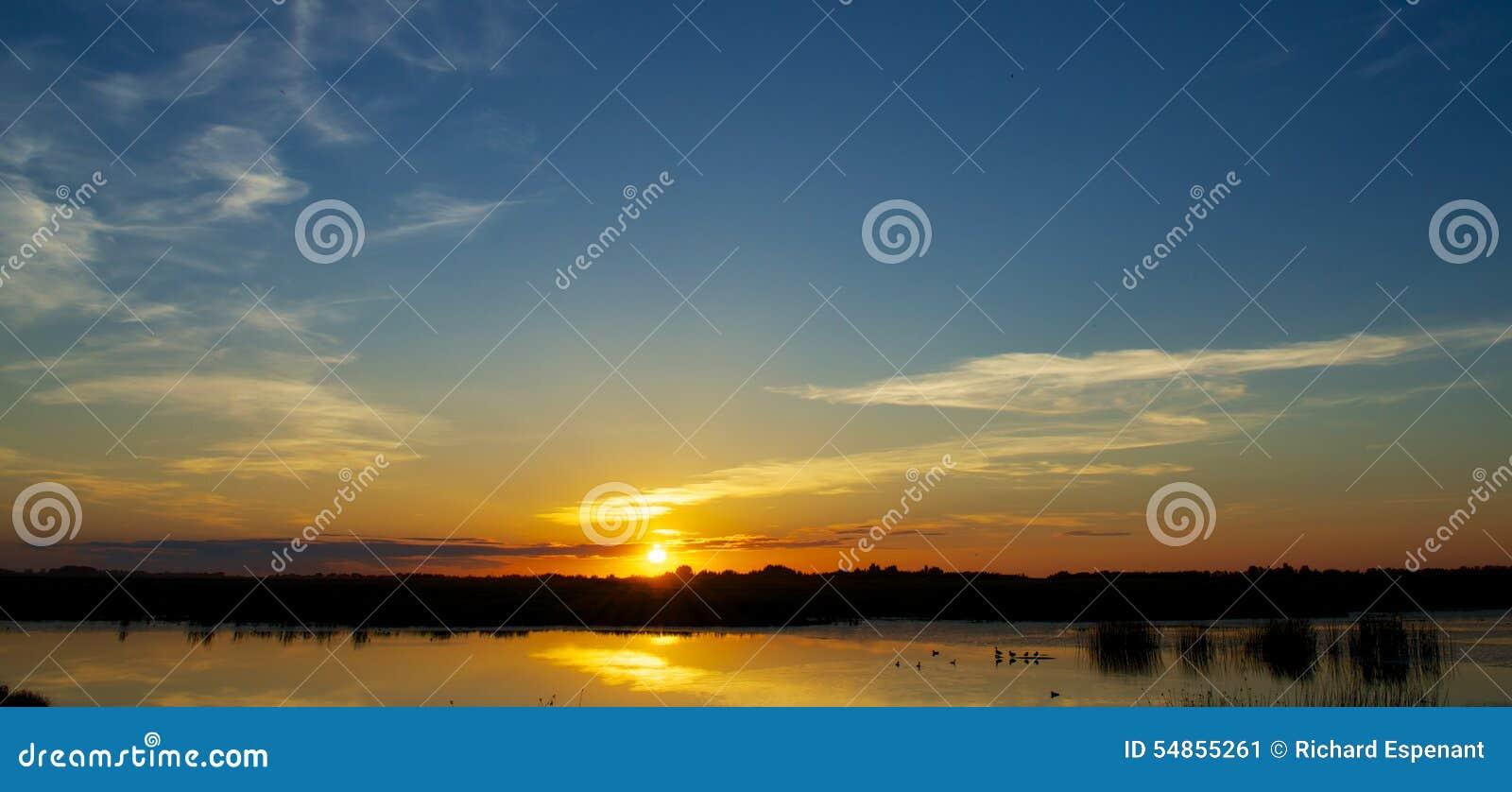 Заход солнца Pairie