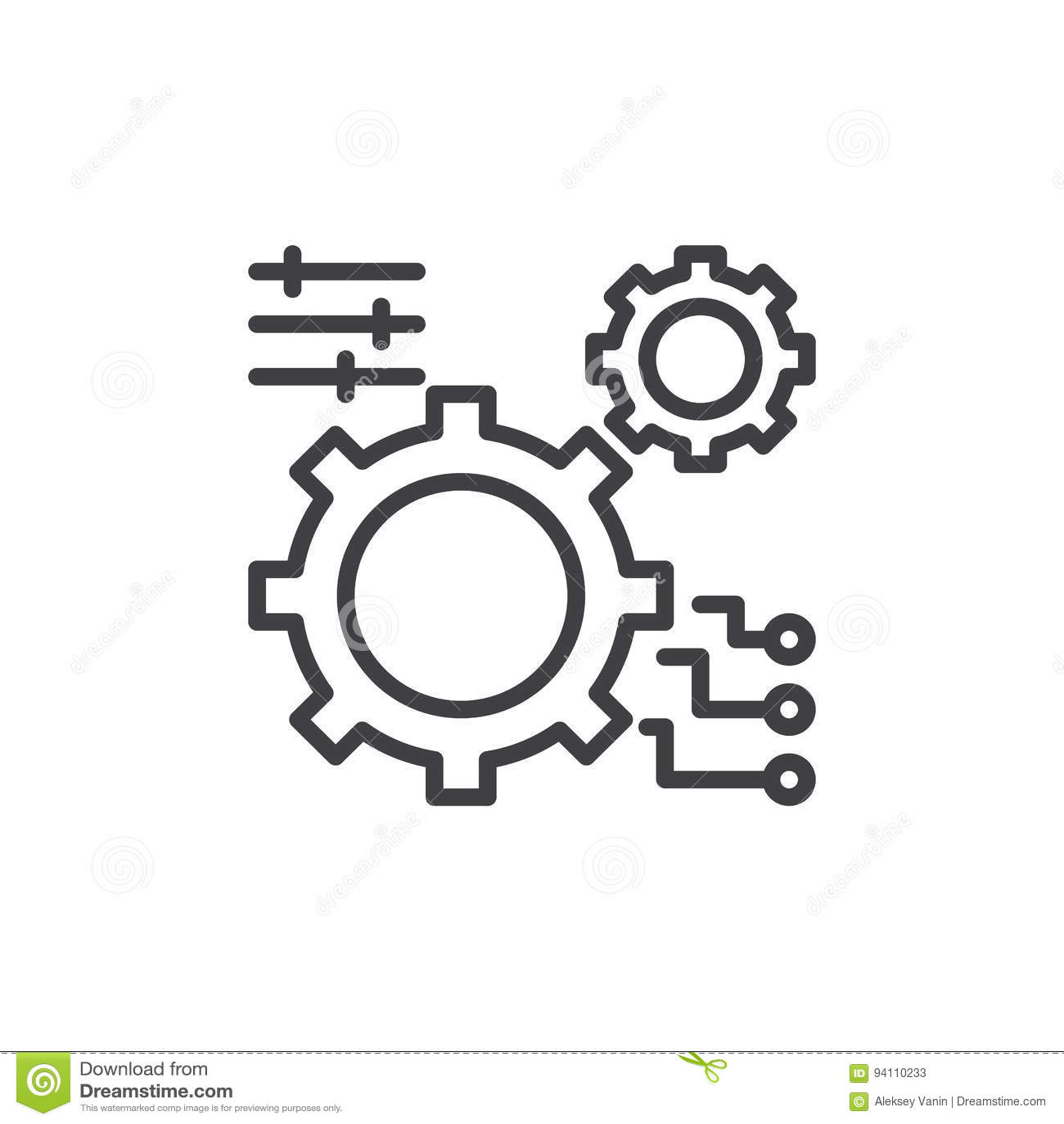 Зацепите, линия значок установок, знак вектора плана, линейная пиктограмма стиля изолированная на белизне