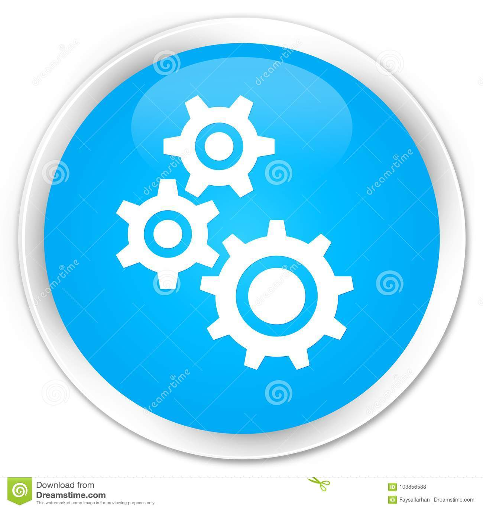 Зацепляет кнопку значка наградную cyan голубую круглую