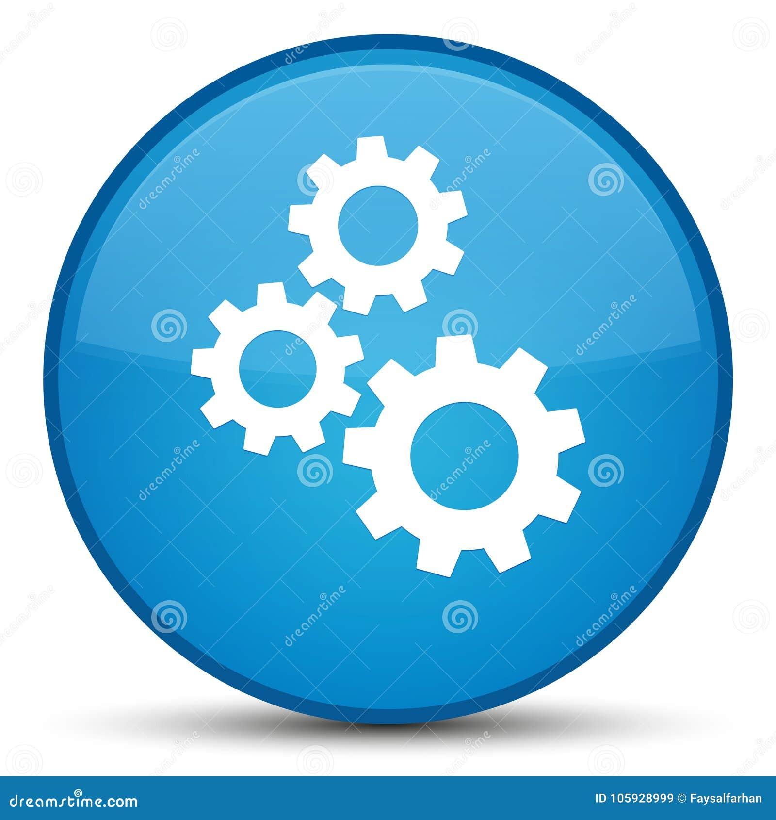 Зацепляет кнопку значка специальную cyan голубую круглую