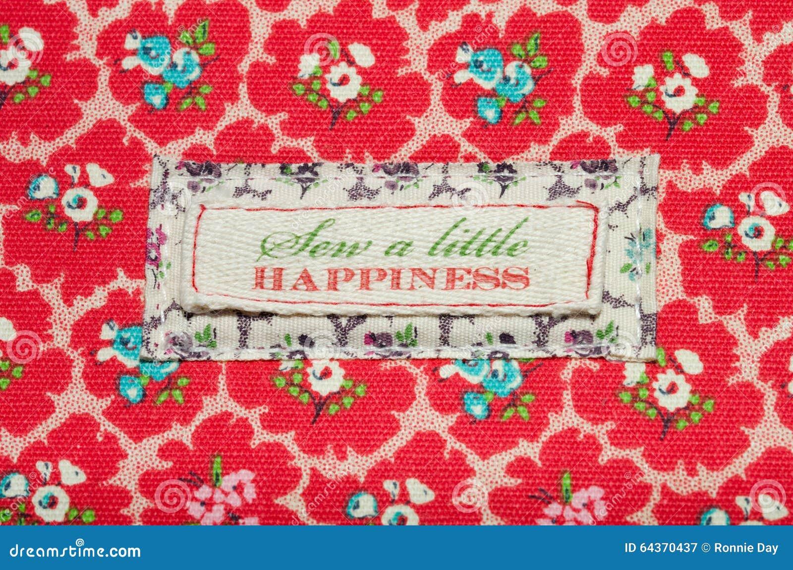 Зашейте меньшее счастье