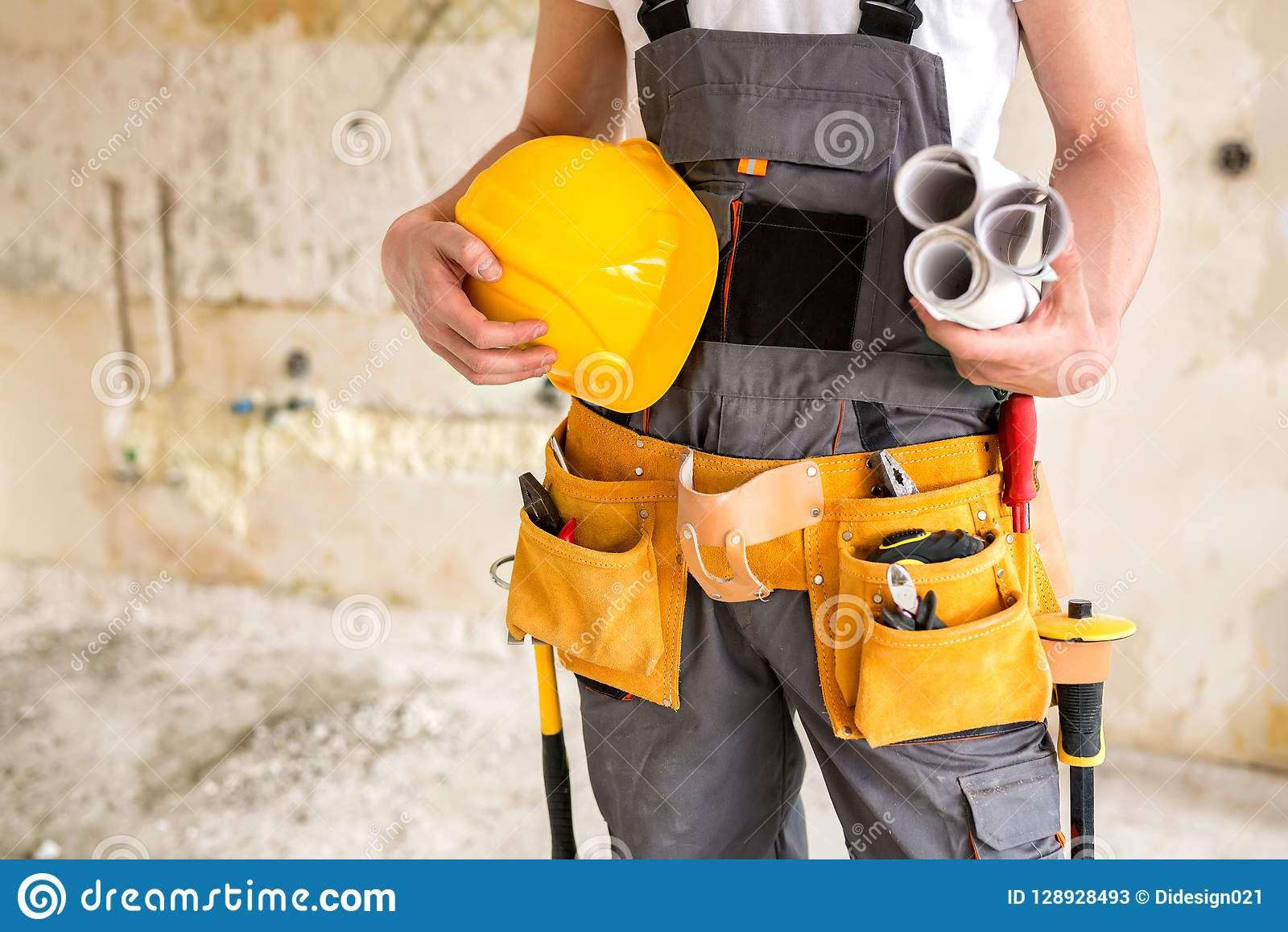 Защитная шестерня, инструменты деятельности, проекты и шлем