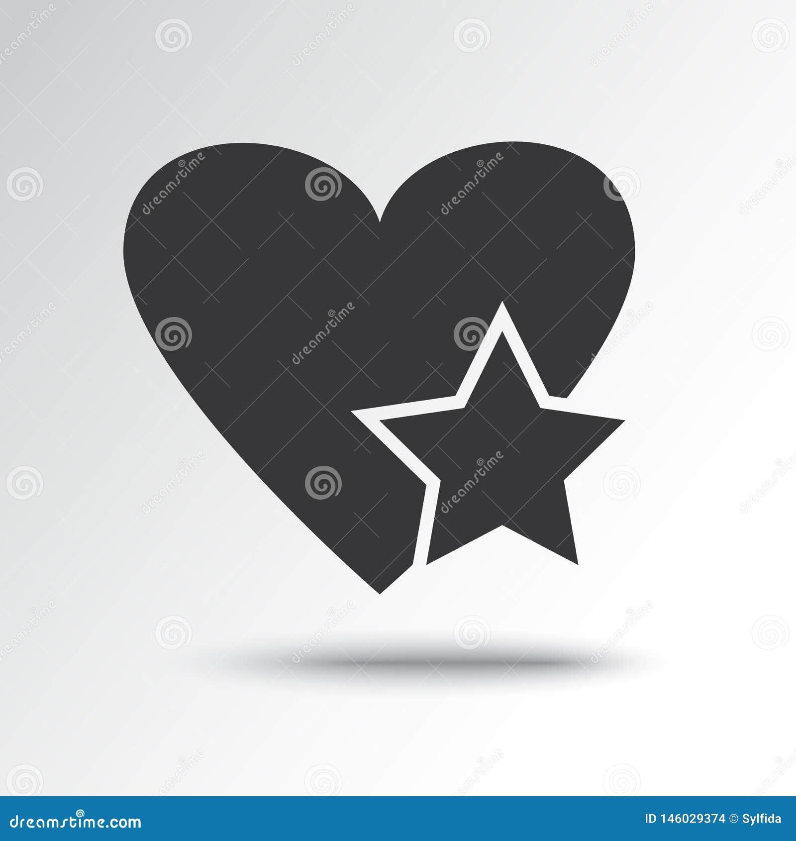 Звезда в сердце, черном значке r