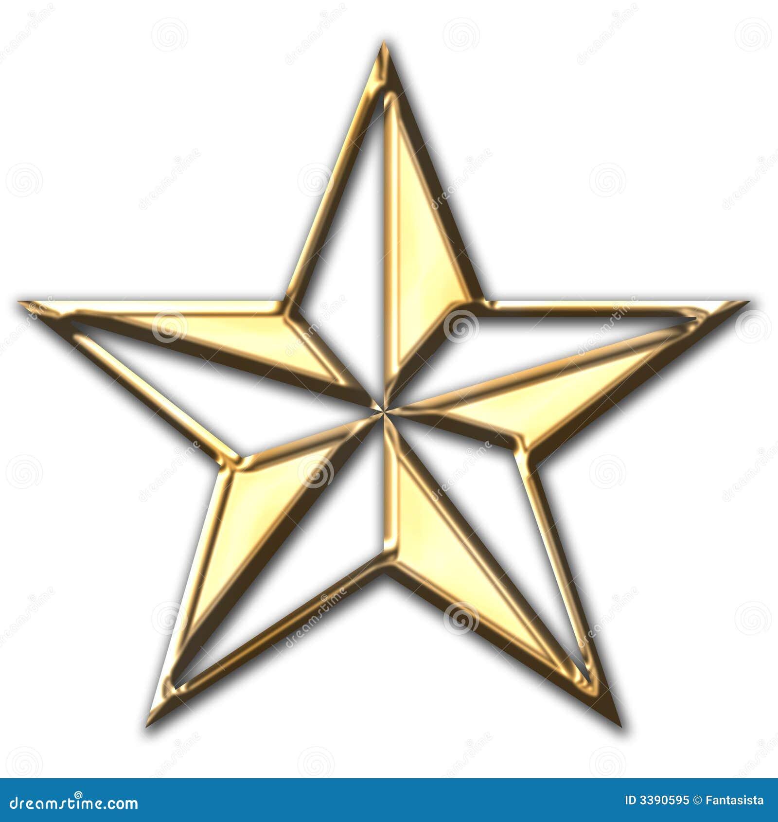 звезда золота глянцеватая