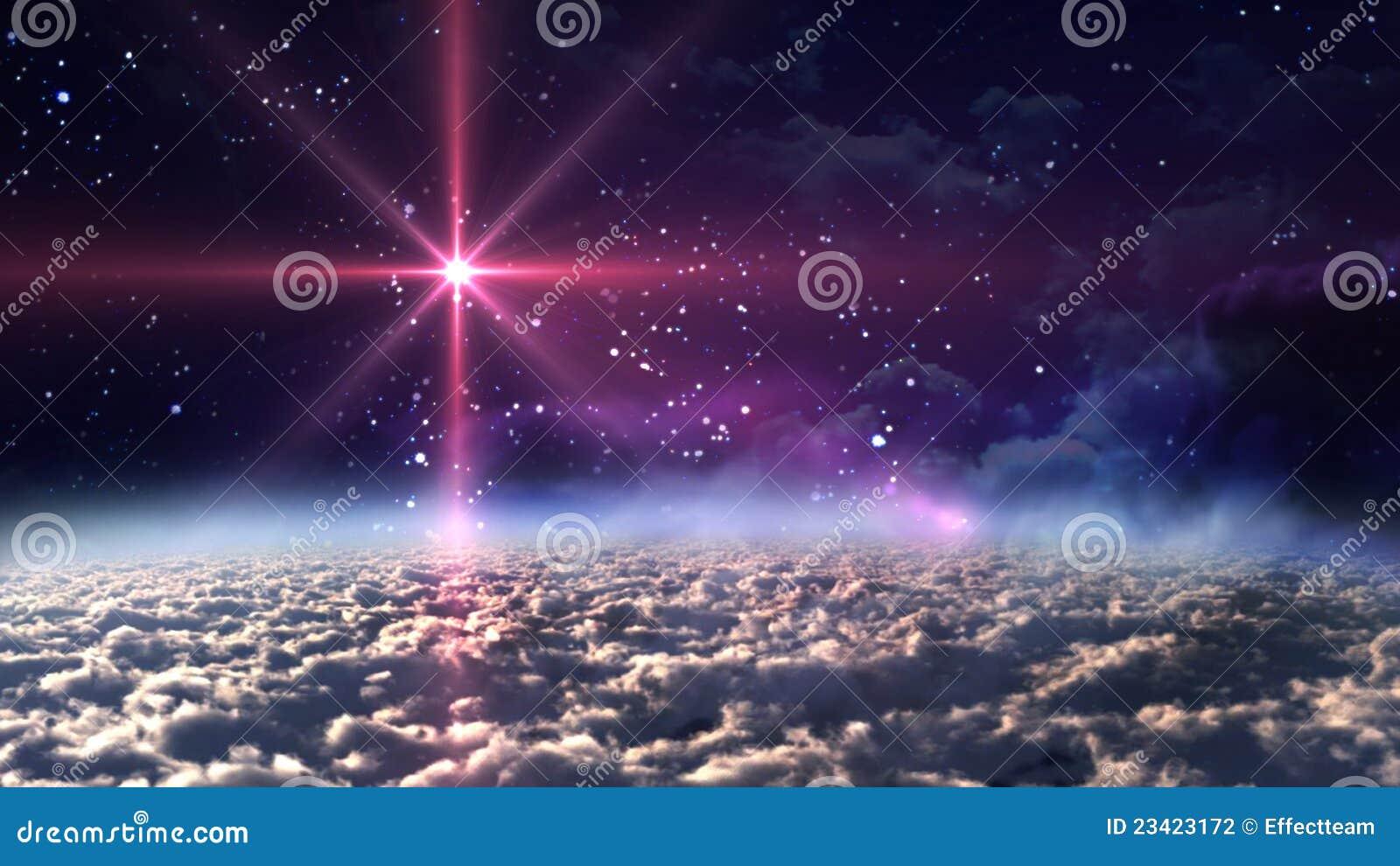 звезда космоса ночи красная