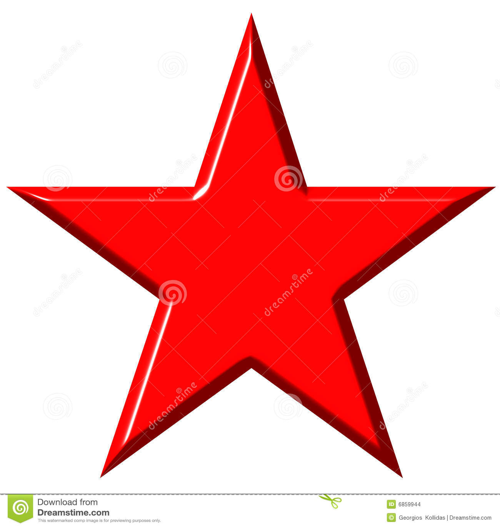 звезда красного цвета cummunist 3d