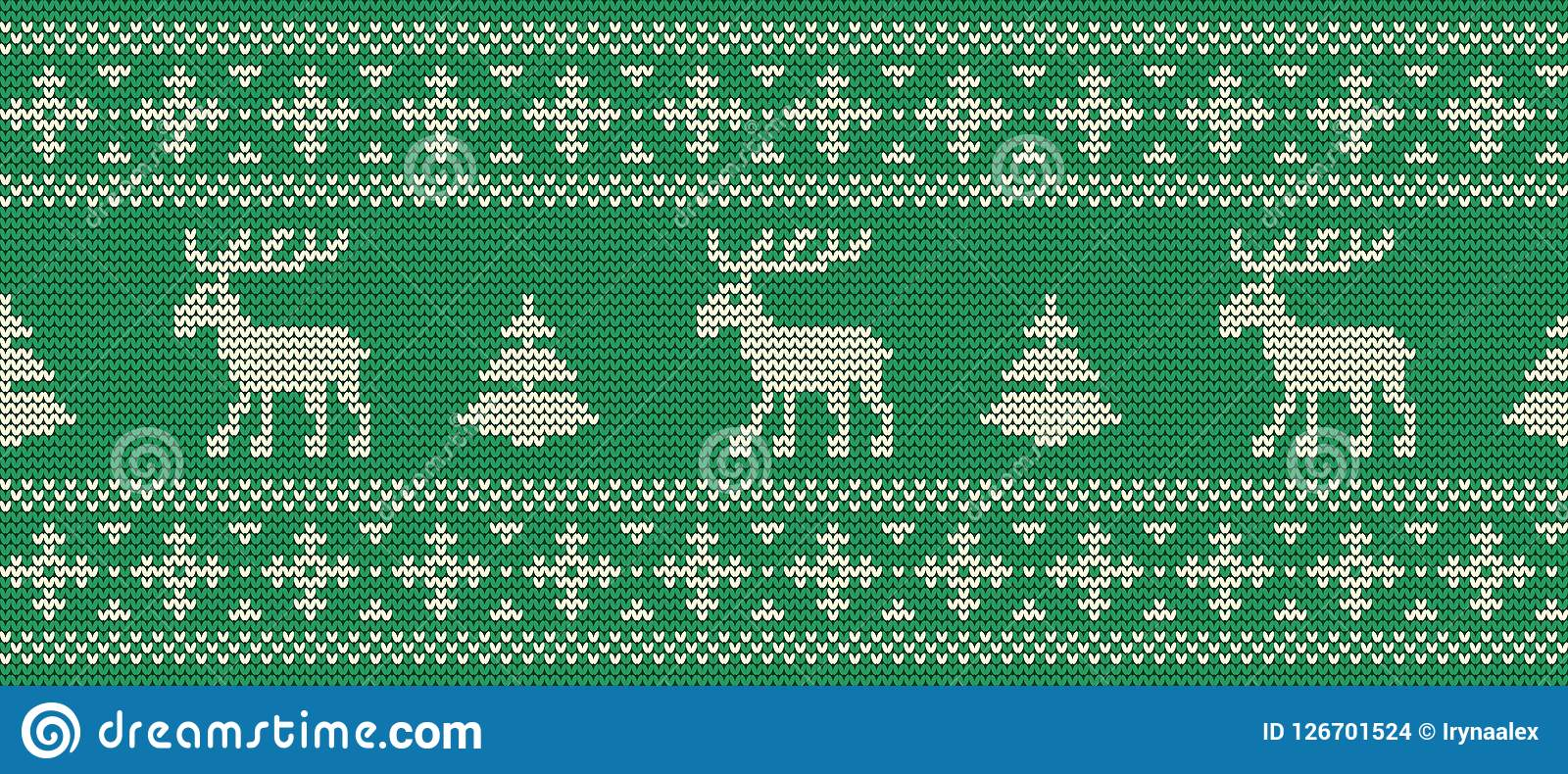 звезды абстрактной картины конструкции украшения рождества предпосылки темной красные белые Связанная картина с оленями на зелено