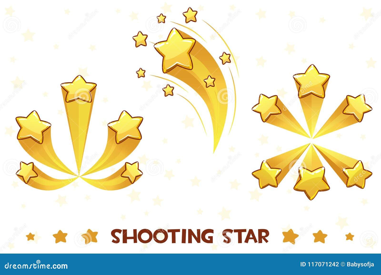 Звезды различной стрельбы шаржа золотые