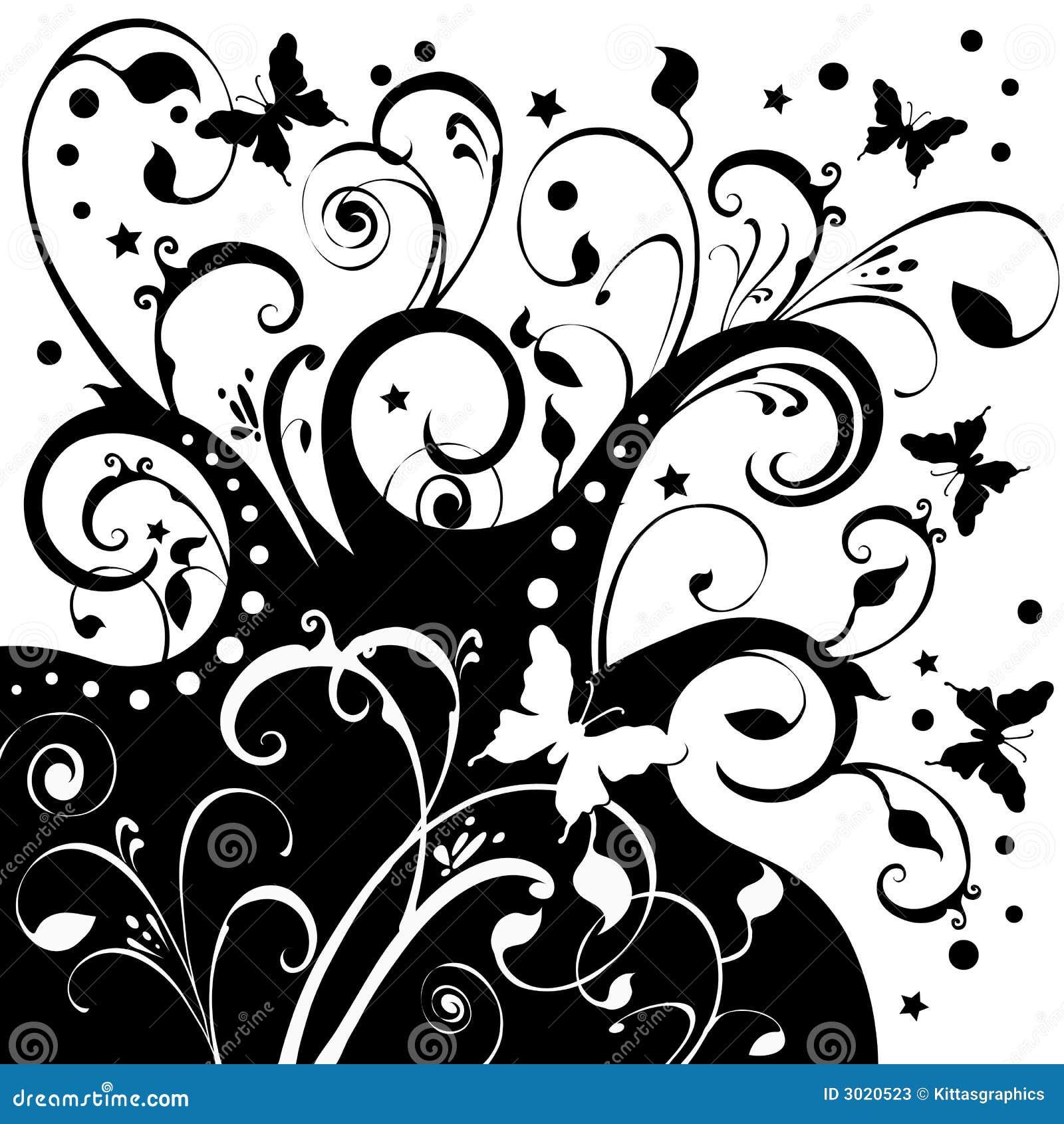 звезды цветков бабочек искусства