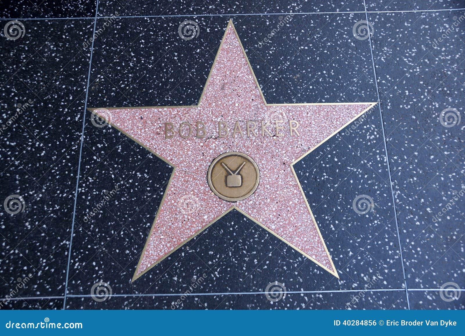 Звезда зазывалы Bob на прогулке Голливуда славы