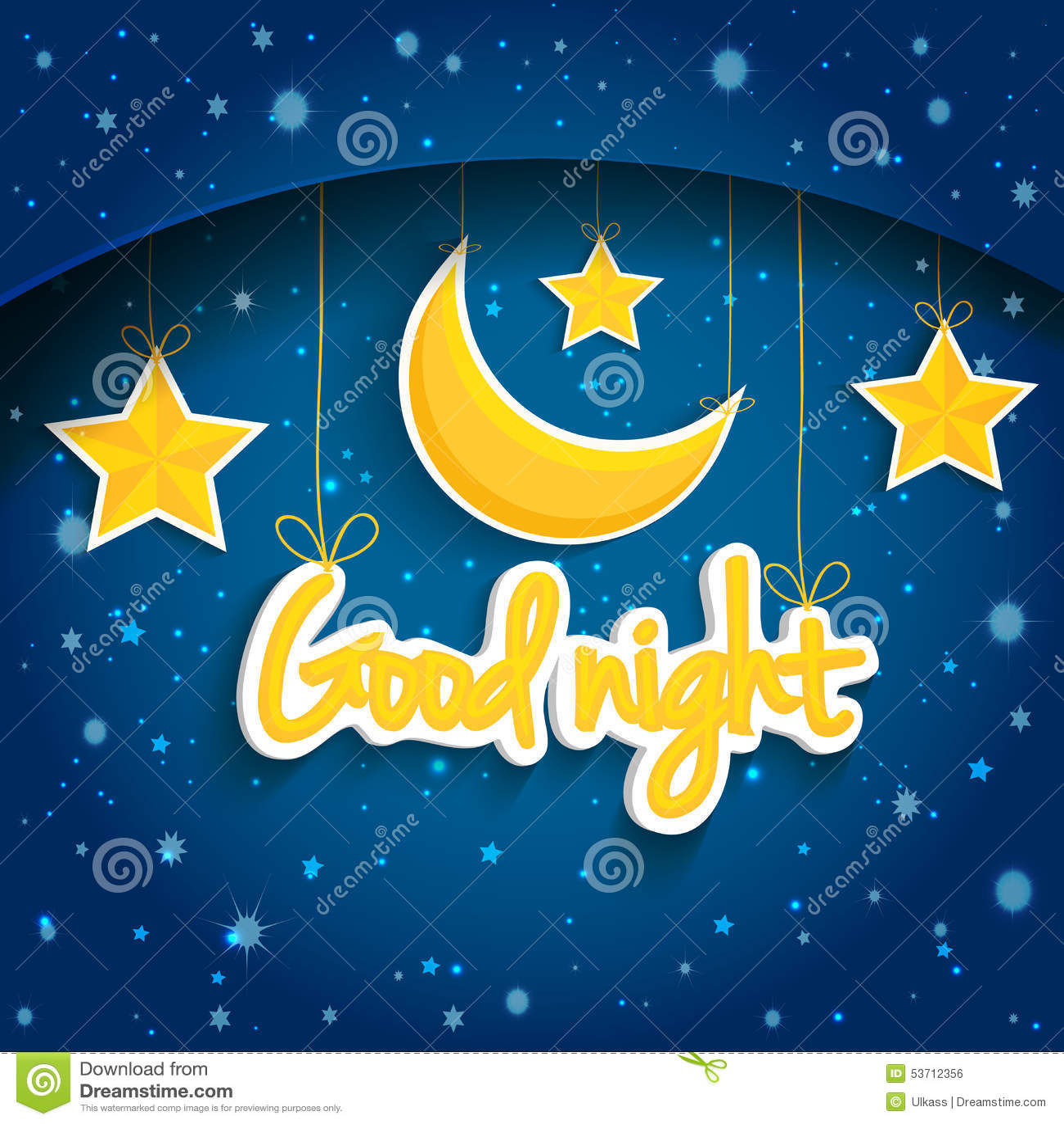 Звезда и луна шаржа желая спокойную ночь Предпосылка EPS1 вектора