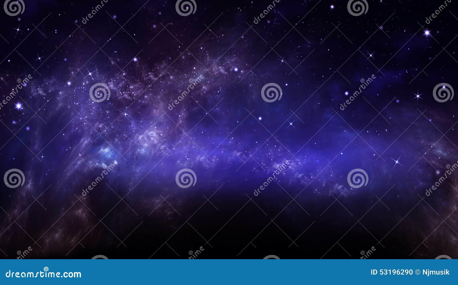 Звёздное небо в открытом пространстве