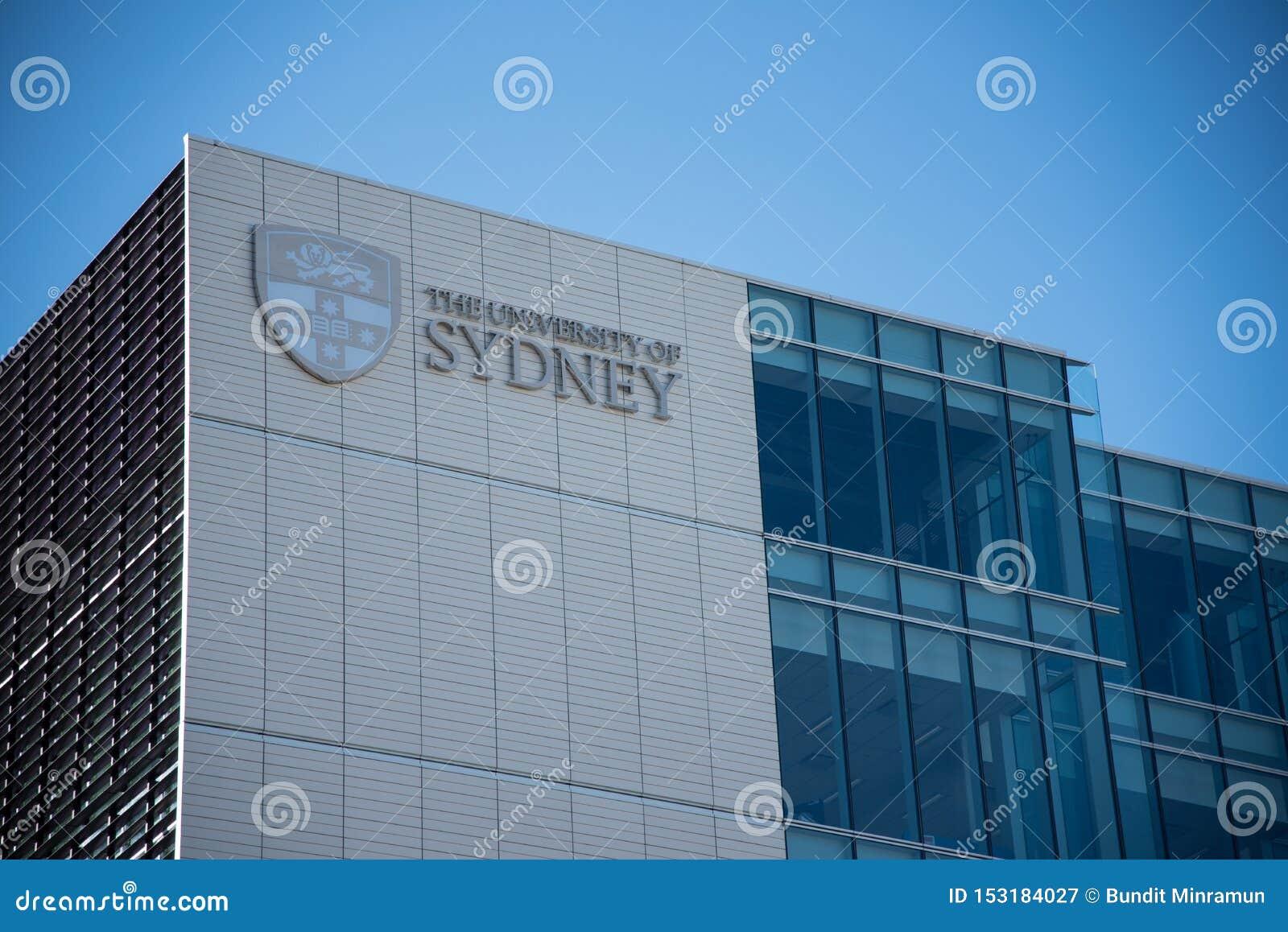 Здание фасада университета Сиднея, это университет Австралии первый и сосчитано как один из мира водя uni