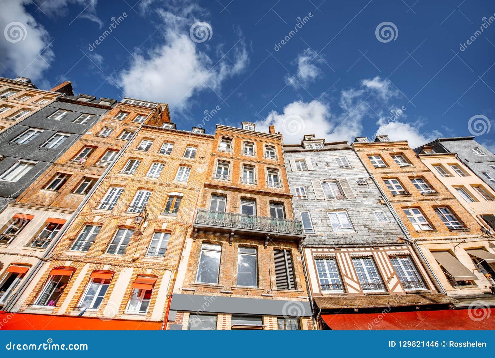 Здания в городке Honfleur, Франции