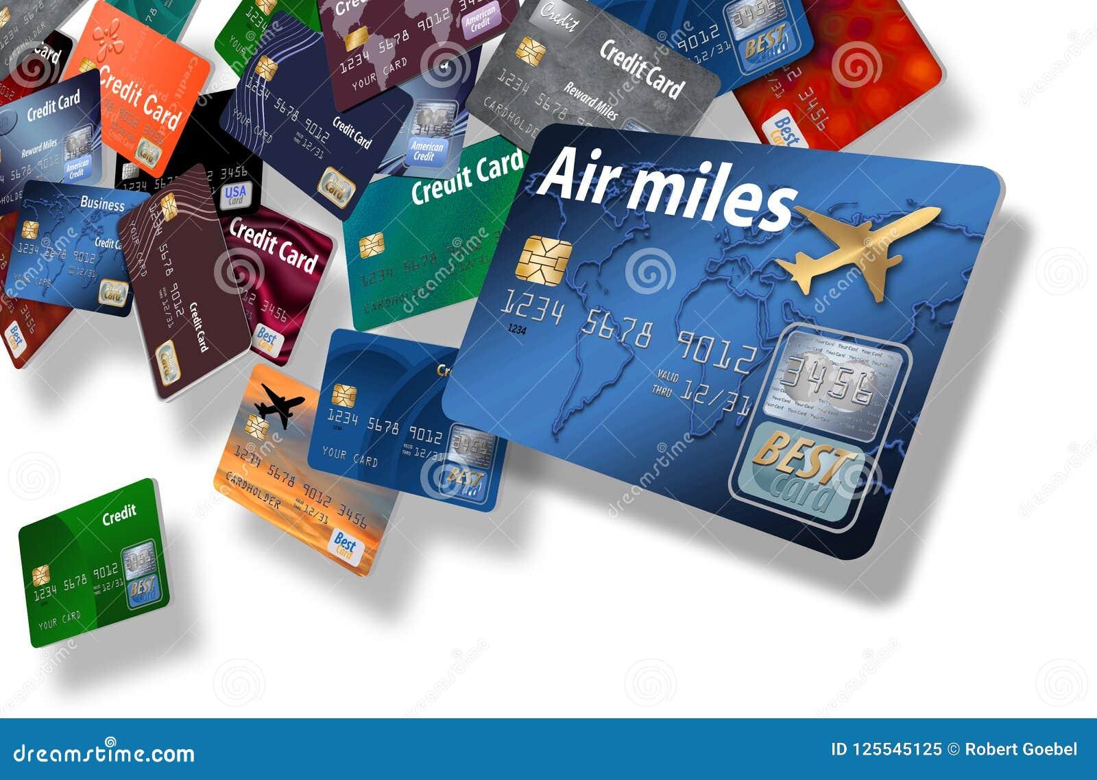 Здесь большая группа в составе кредитные карточки которые кажется, что плавают или лететь