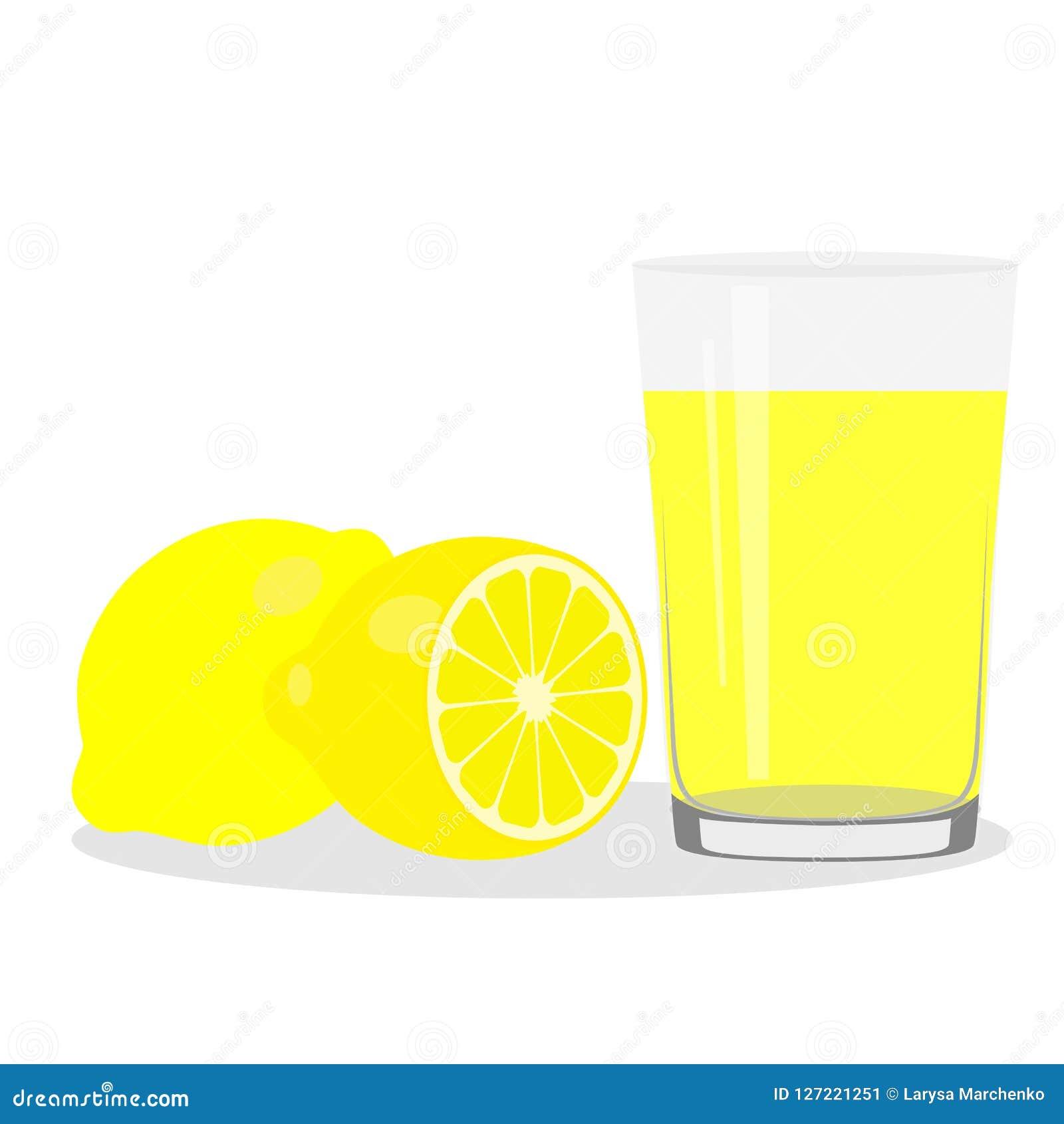 Здоровый уклад жизни Свеже сжиманный сок в стекле Лимон lem