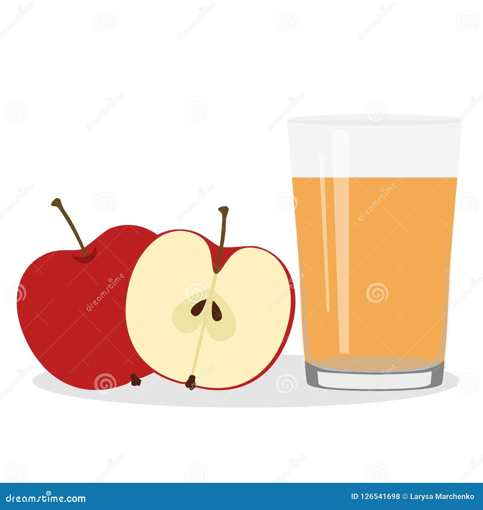 Здоровый уклад жизни Свеже сжиманный сок в стекле Яблоки