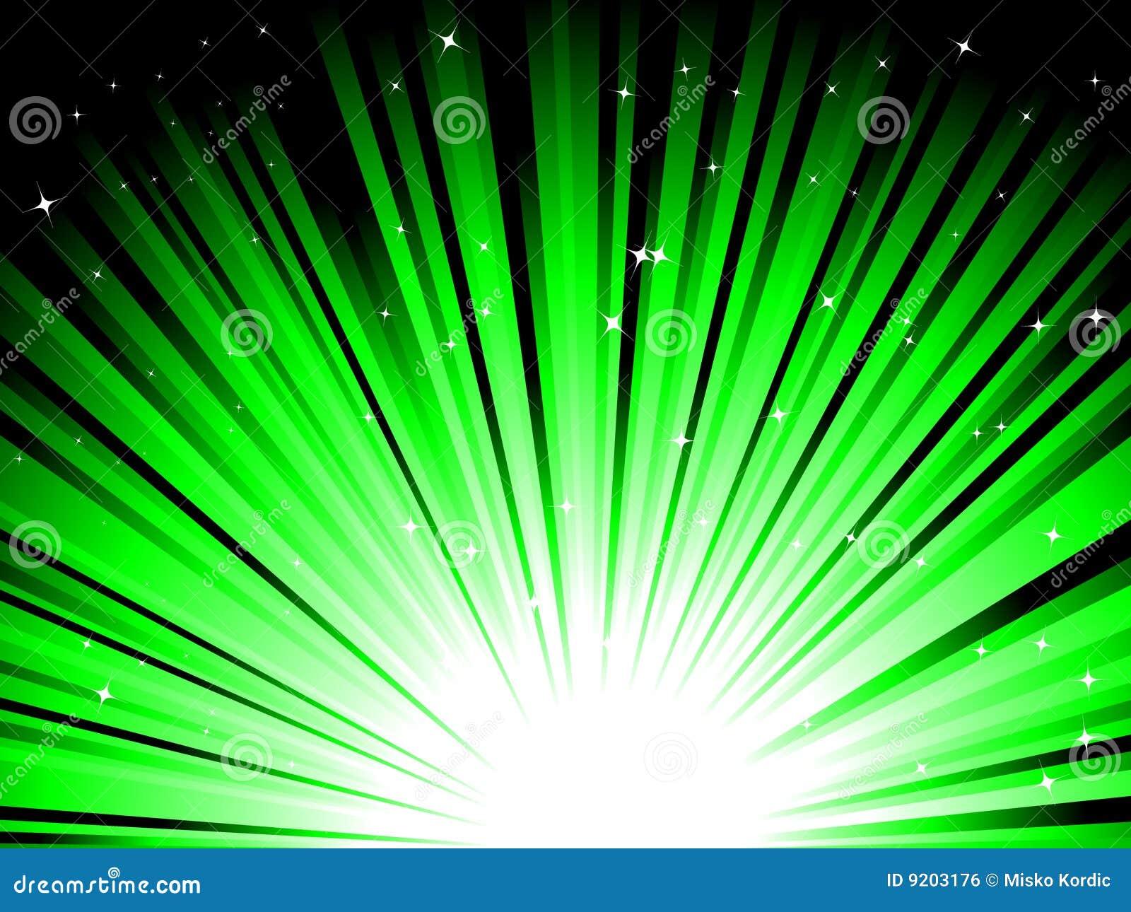 зеленые лучи Стоковое Изображение RF ...: ru.dreamstime.com/стоковое-изображение-rf...