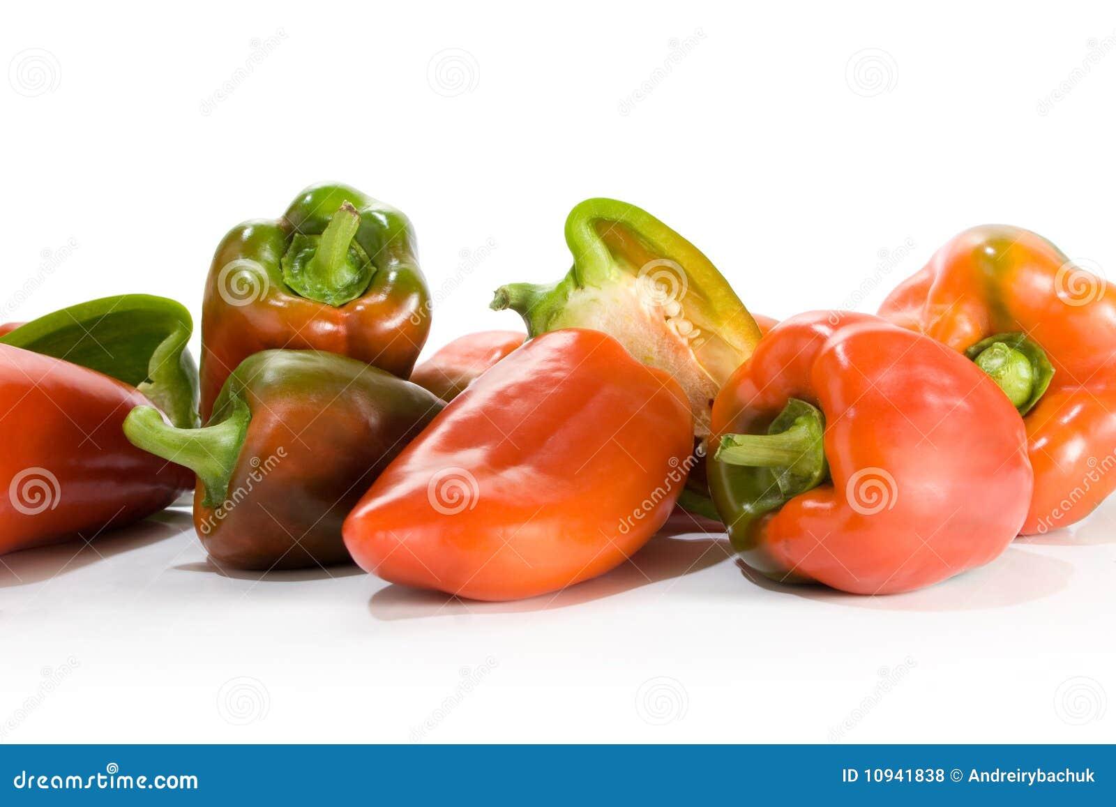 зеленый красный цвет paprica