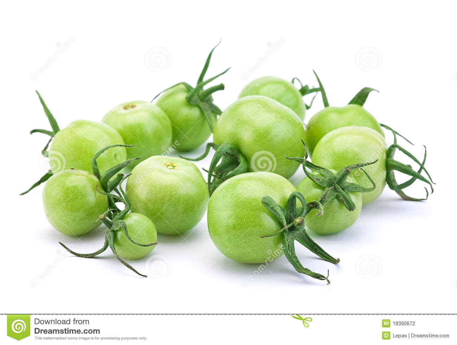 зеленый сырцовый томат
