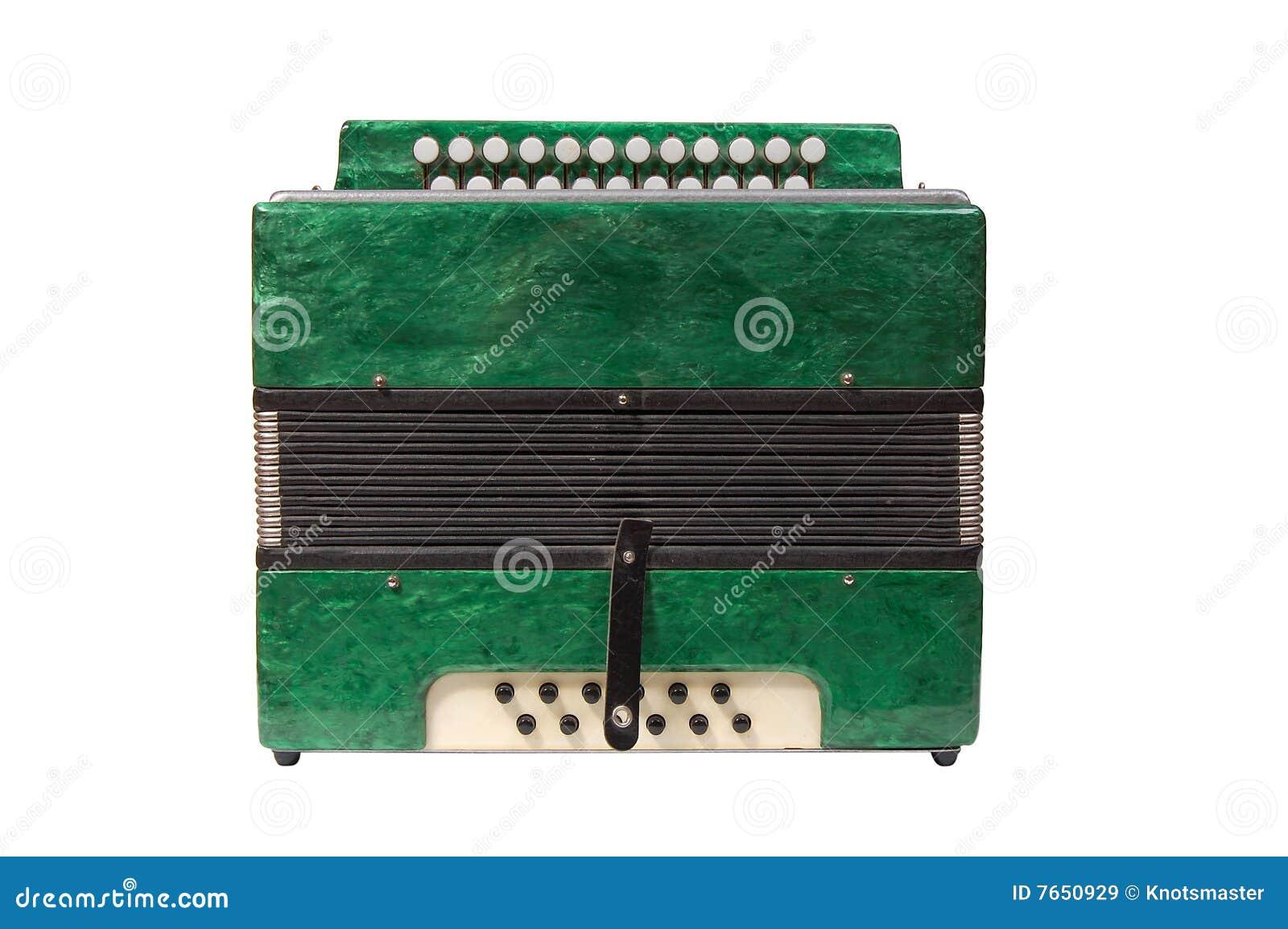 зеленый цвет аккордеони