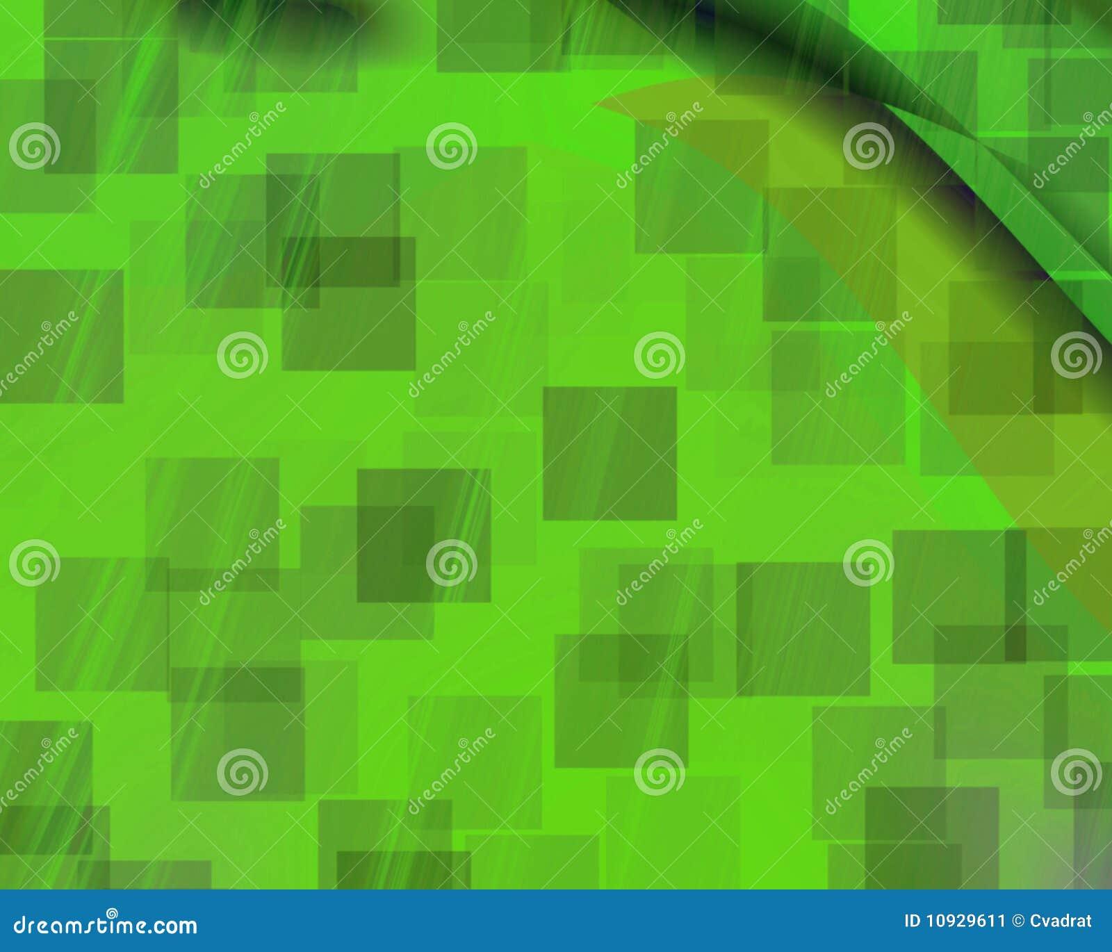 Зеленый цвет квадратов генетического искусства фантомный