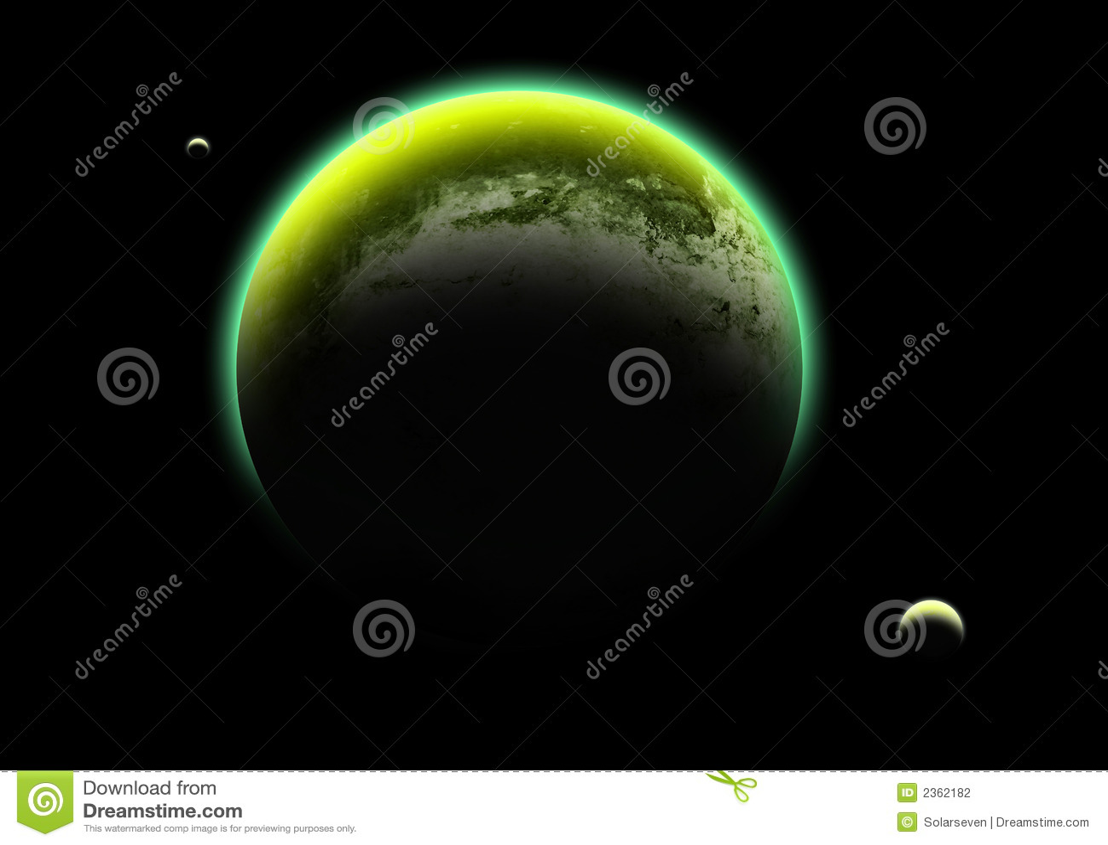 зеленый цвет лунатирует планета