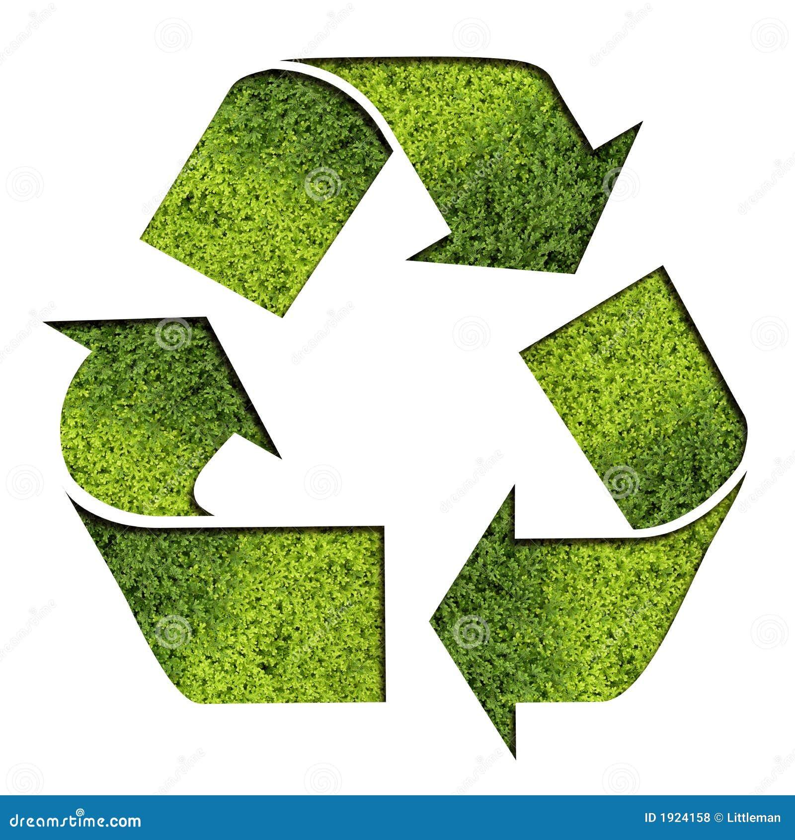 зеленый цвет рециркулирует символ
