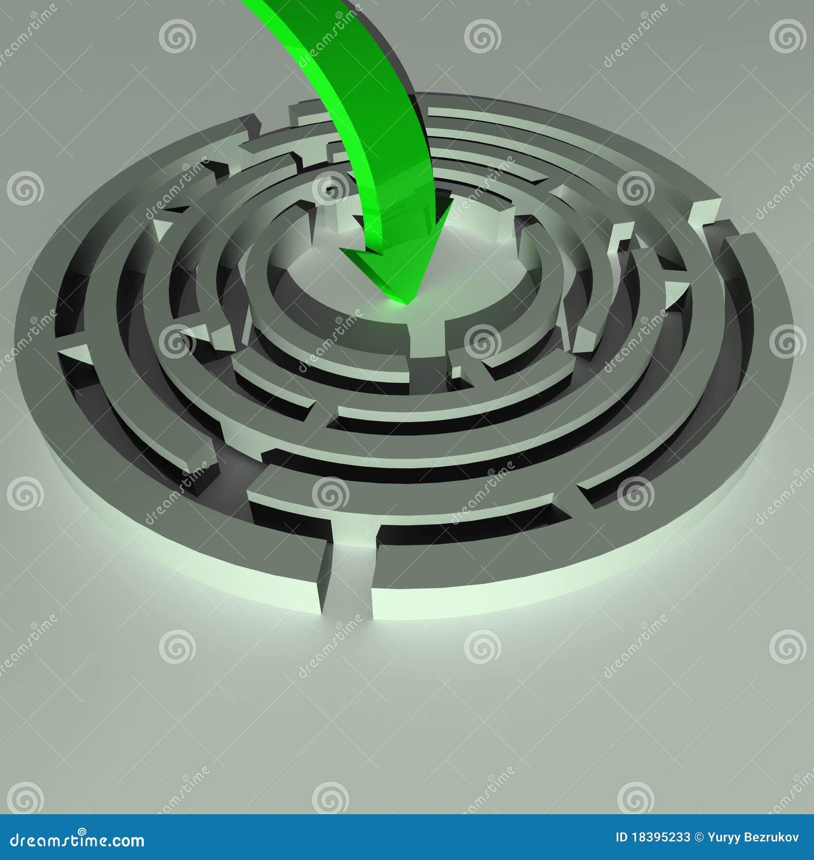 зеленый цвет стрелки