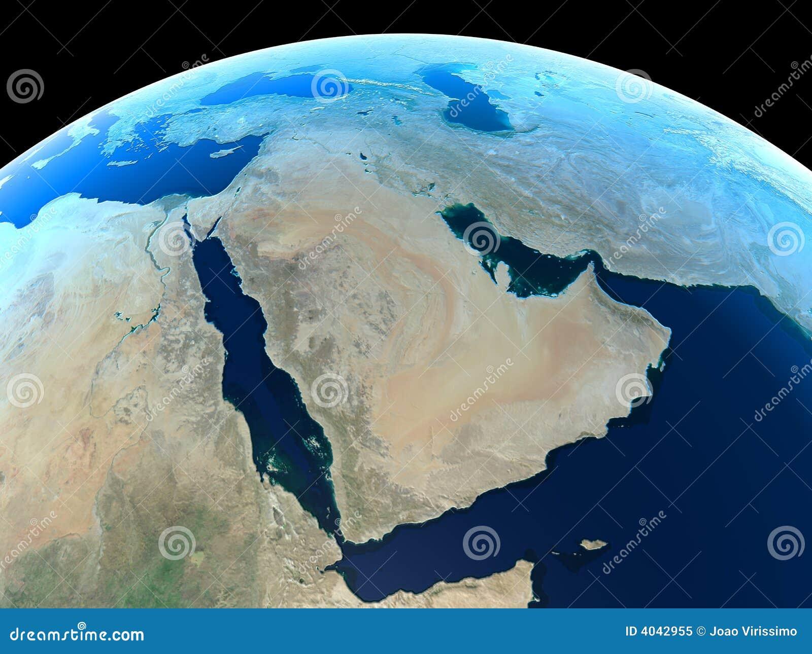 земли середина на восток