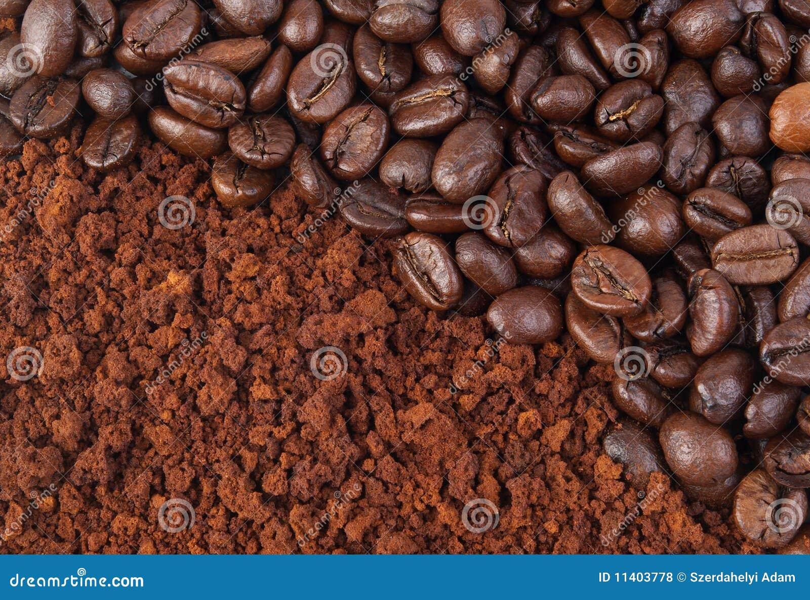 земля кофе фасоли