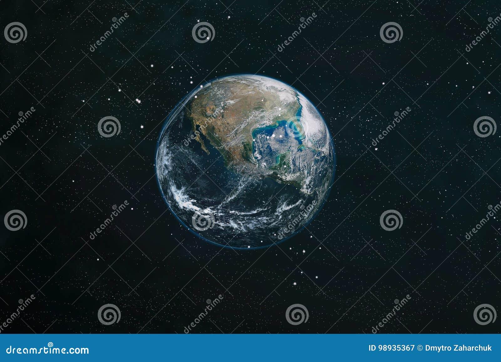 Земля от космоса Элементы этого изображения поставленные NASA