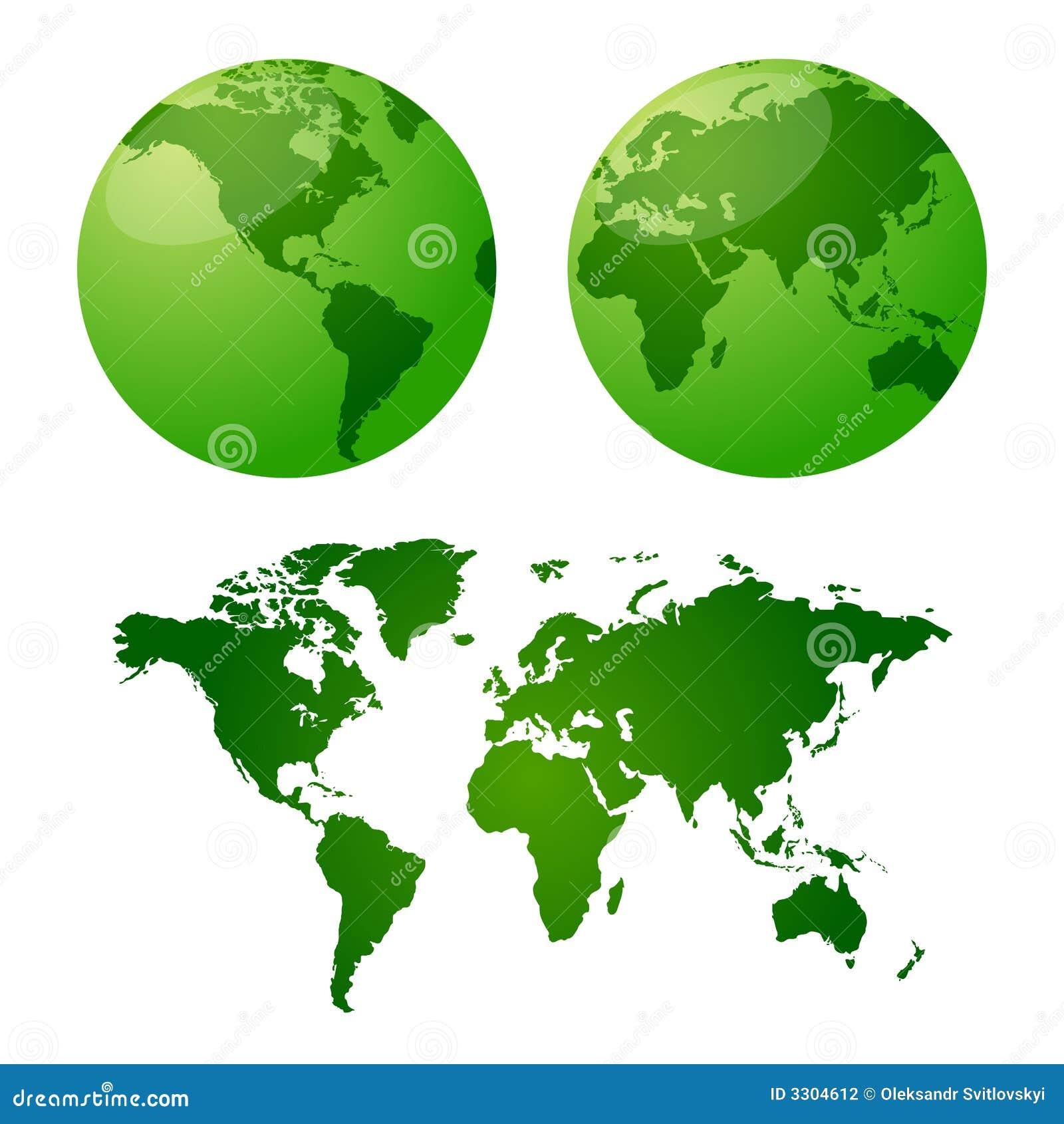 земля составляет карту вектор